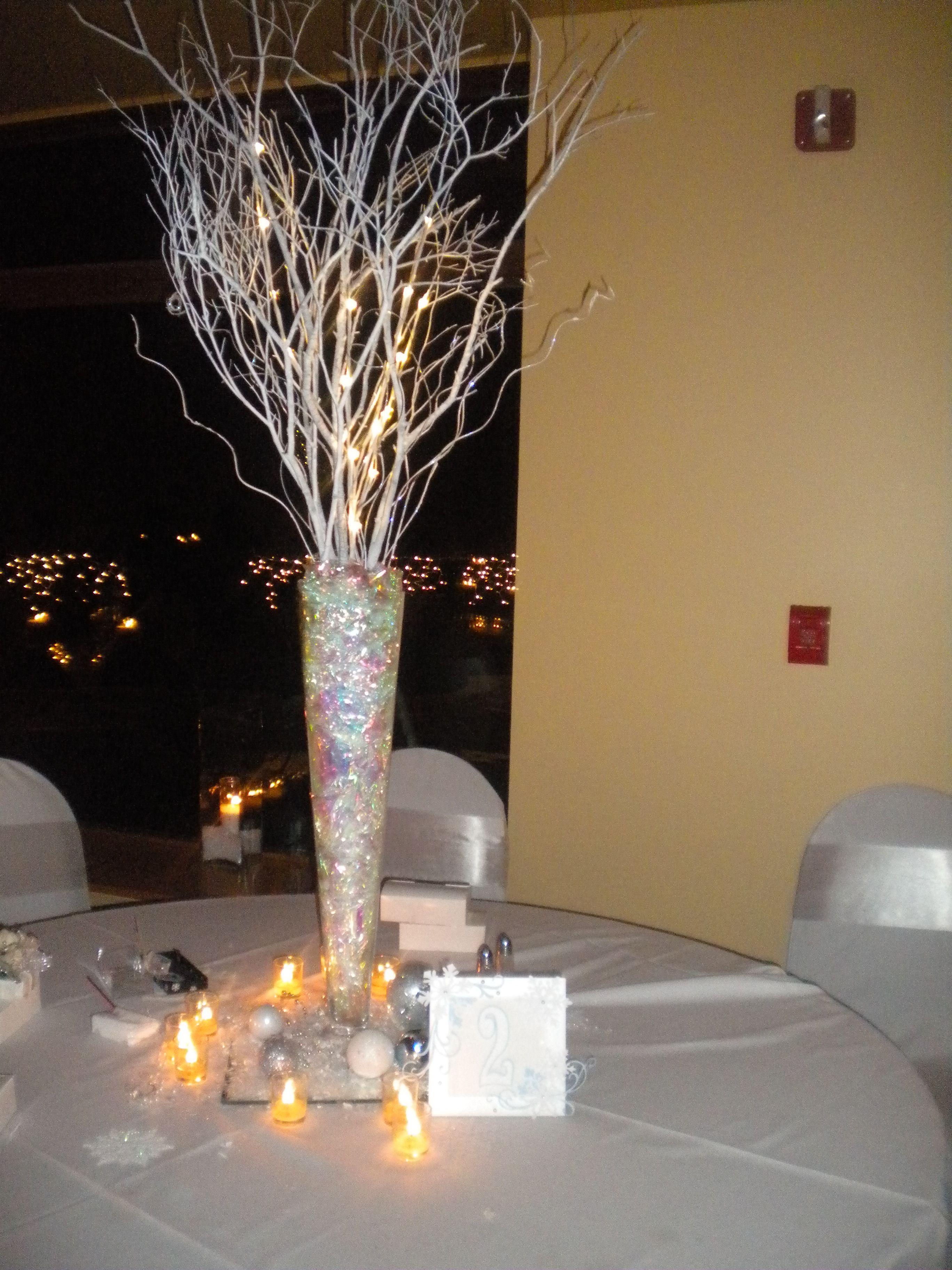 Winter wedding centerpiece weddings pinterest