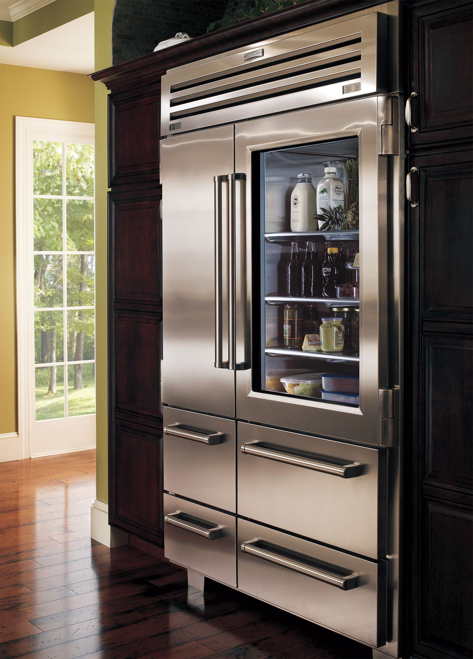 Sub zero refrigerator furiture and decorating pinterest for Glass entry doors for home