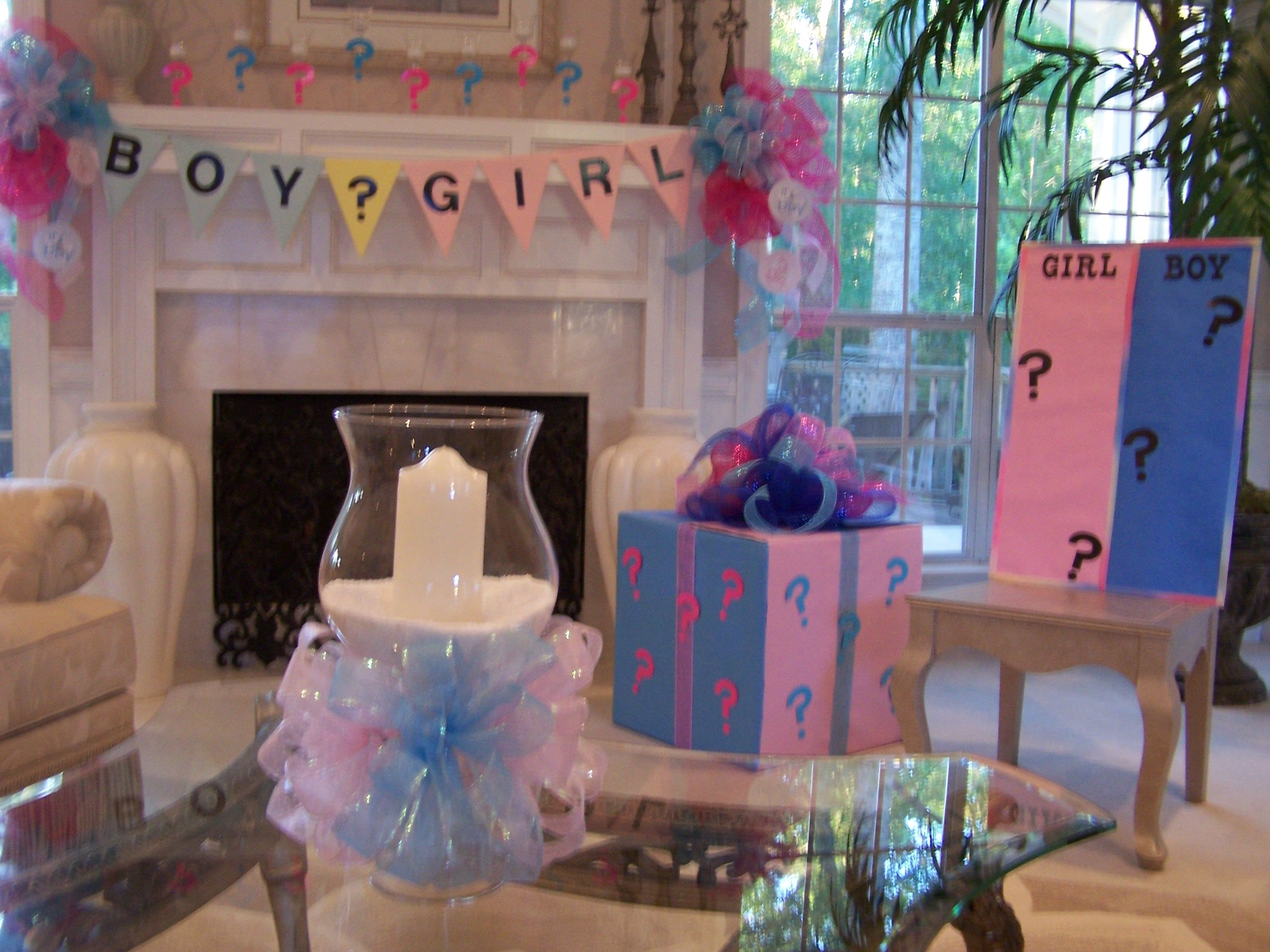 Gender reveal party ideas babies pinterest for Baby party decoration ideas