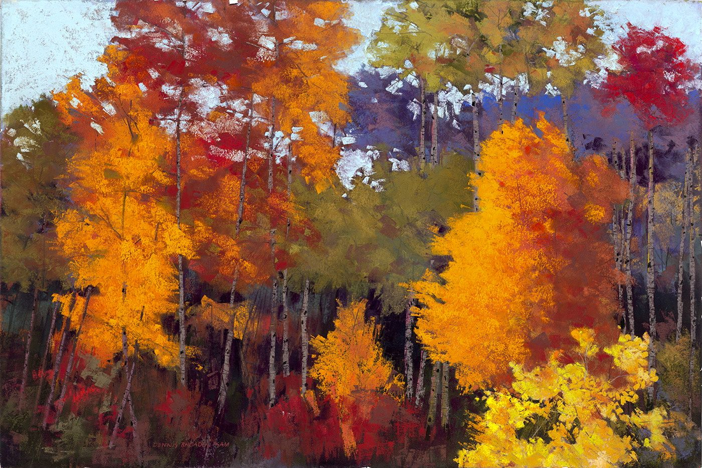 Pastel Painting Of Fall Color Paintings I Love Pinterest