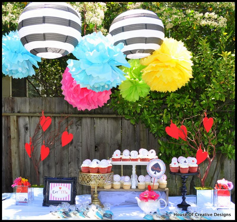 alice in wonderland party decorations ideas