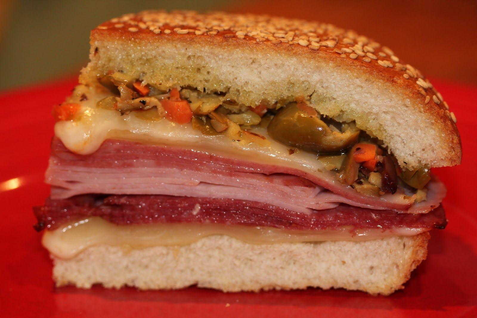 Muffaletta sandwich | To Try | Pinterest