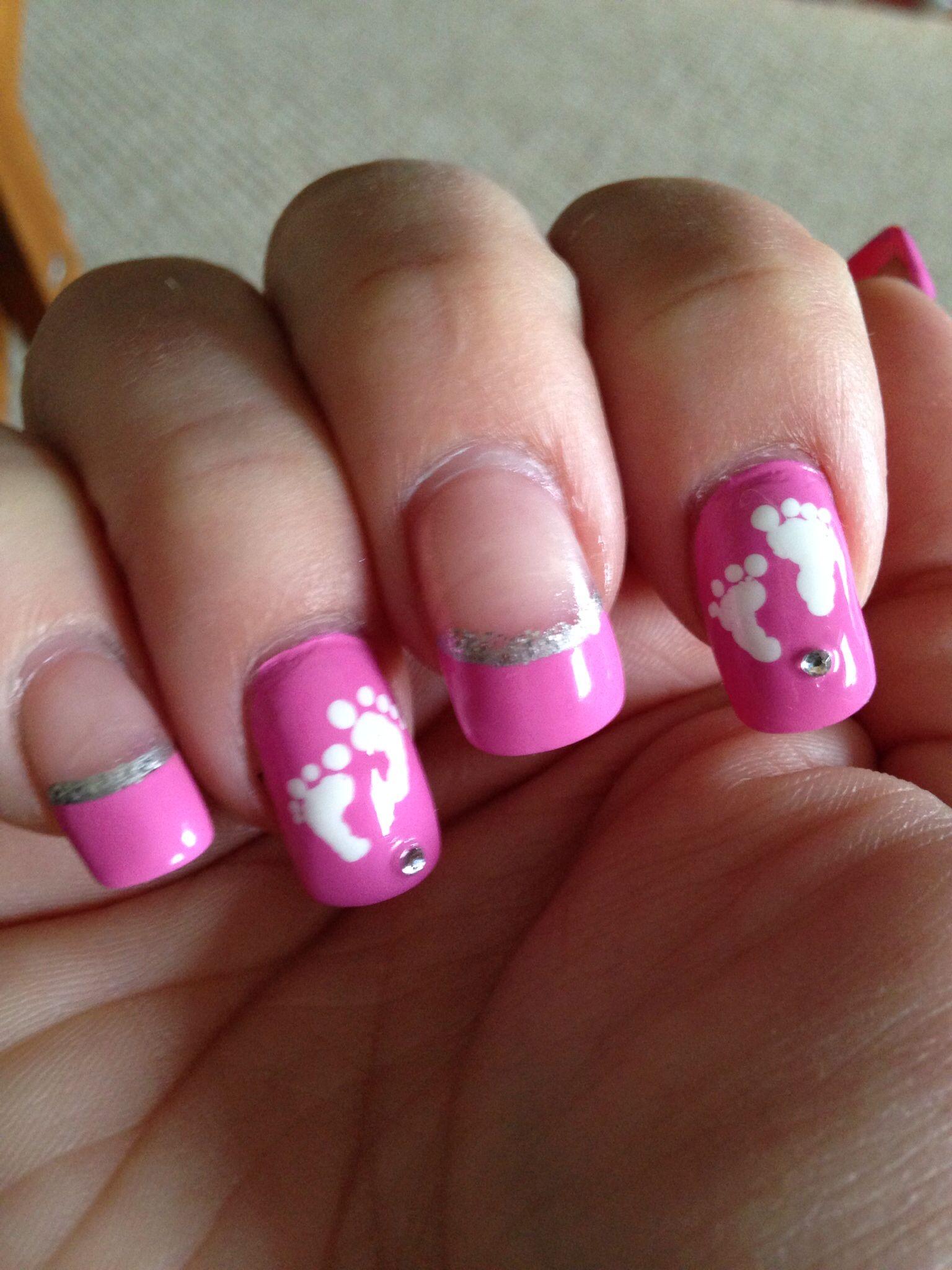 baby shower nails nails