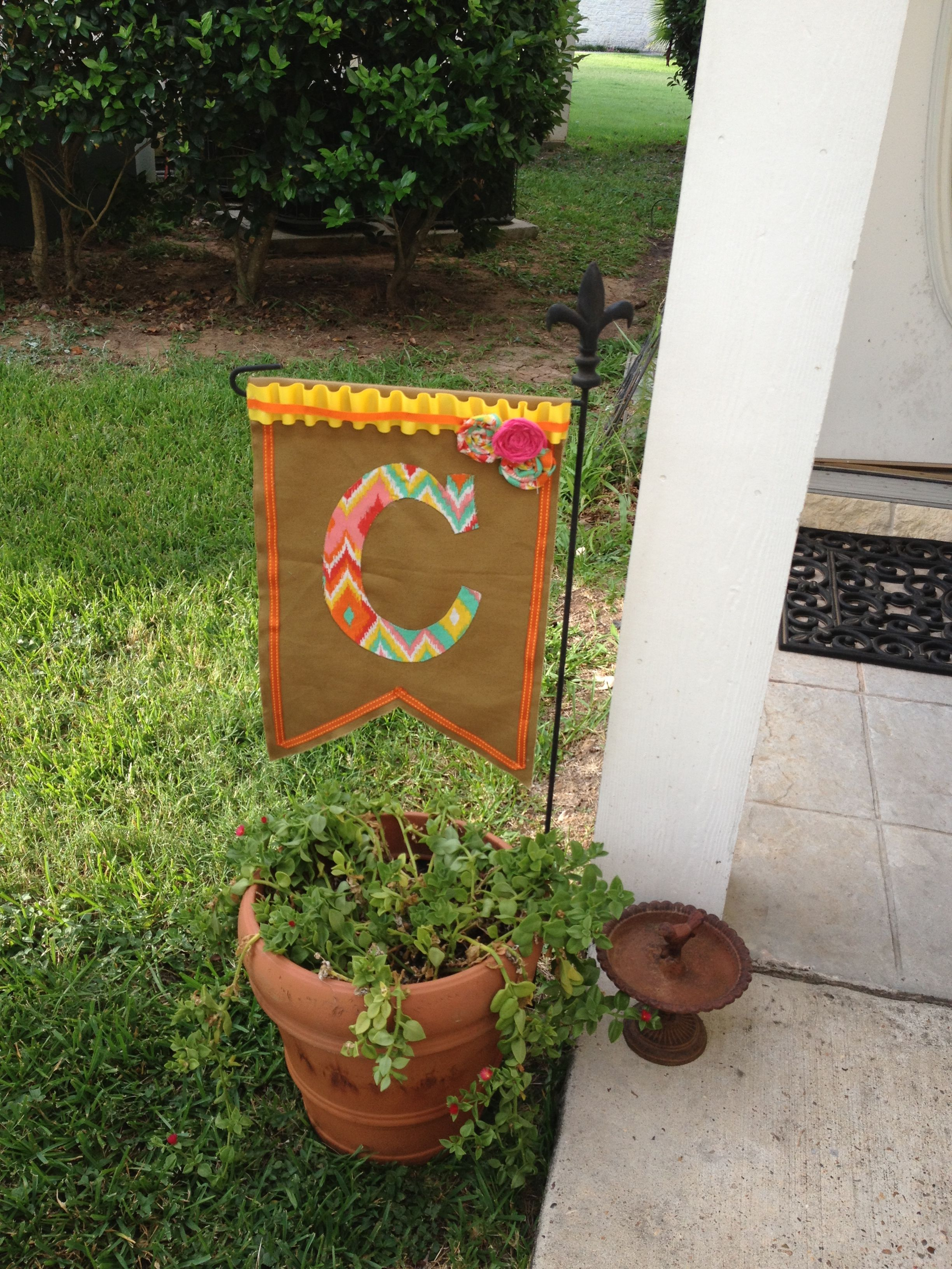 homemade garden flags