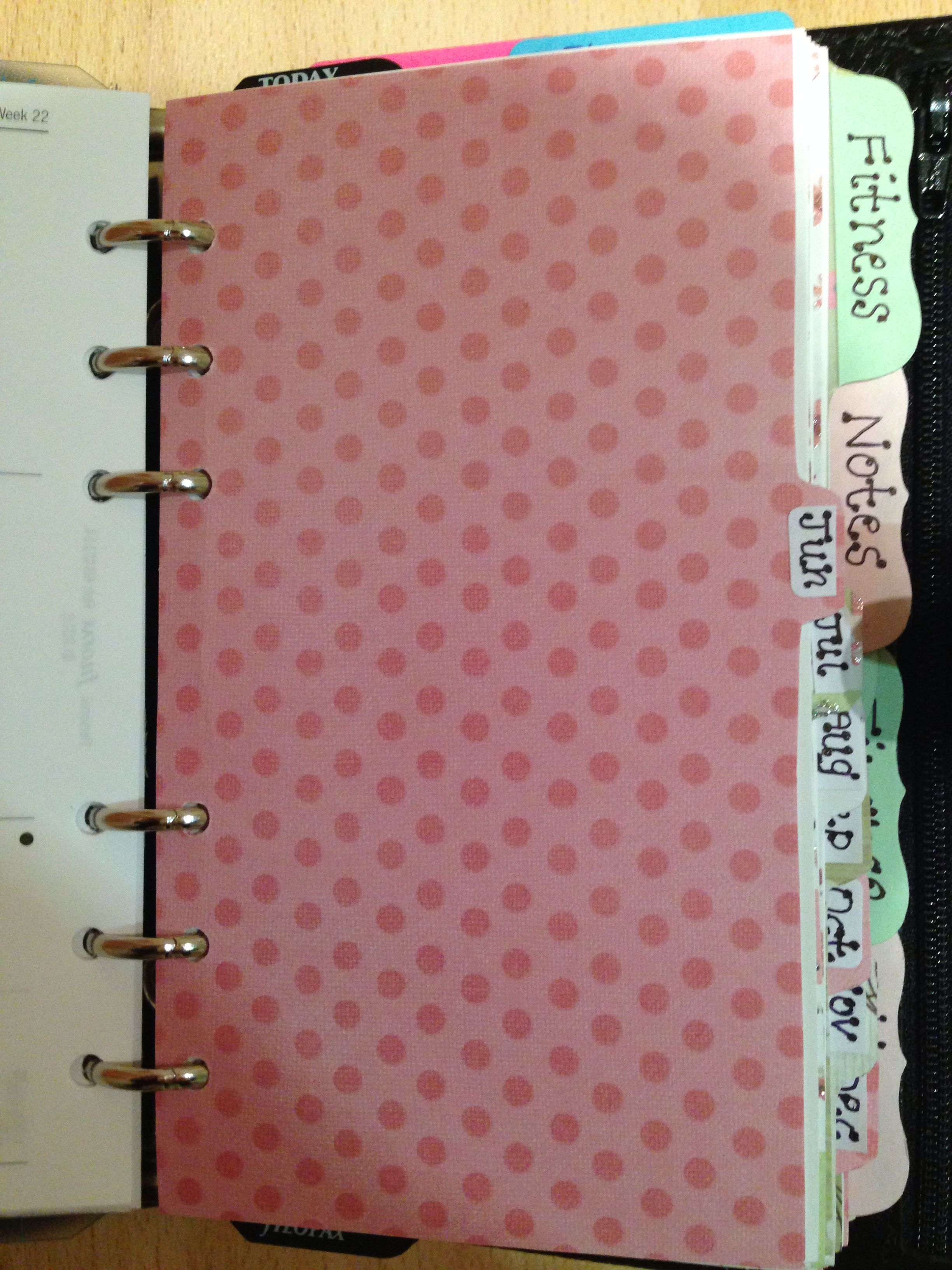 homemade filofax divider for june planner pinterest