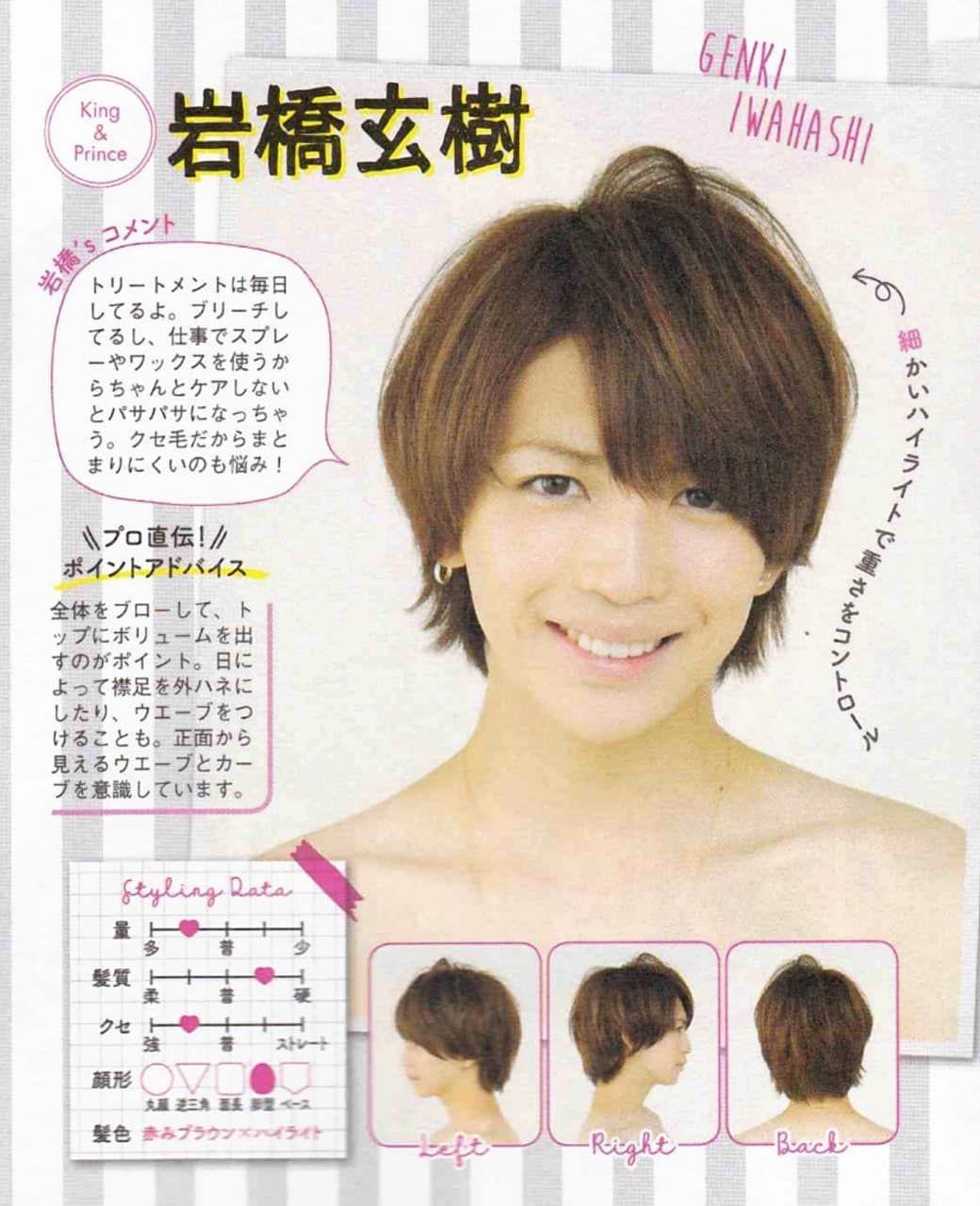 キンプリ 岸 髪型
