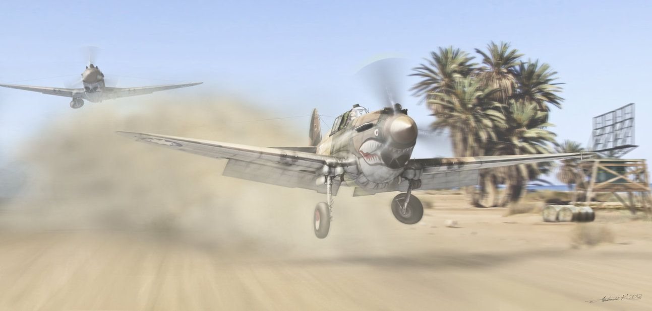 P-40 Flying Tigers | Aircraft Artwork | Pinterest