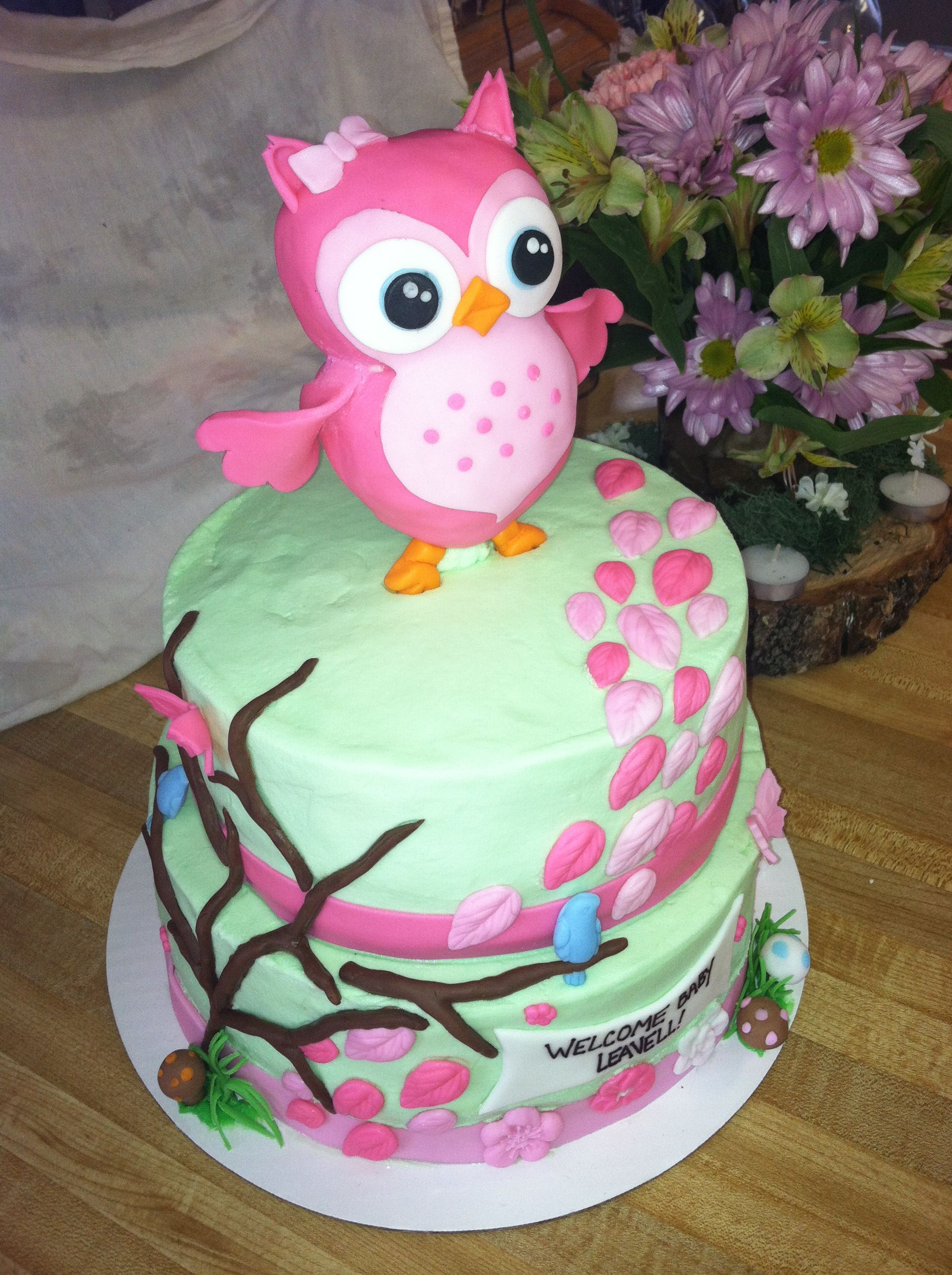 woodland baby shower cake fabulous cakes pinterest