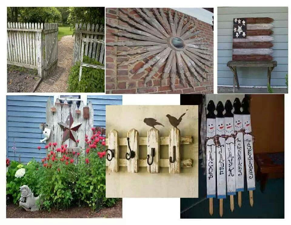 Picket Fence Ideas Crafts Pinterest