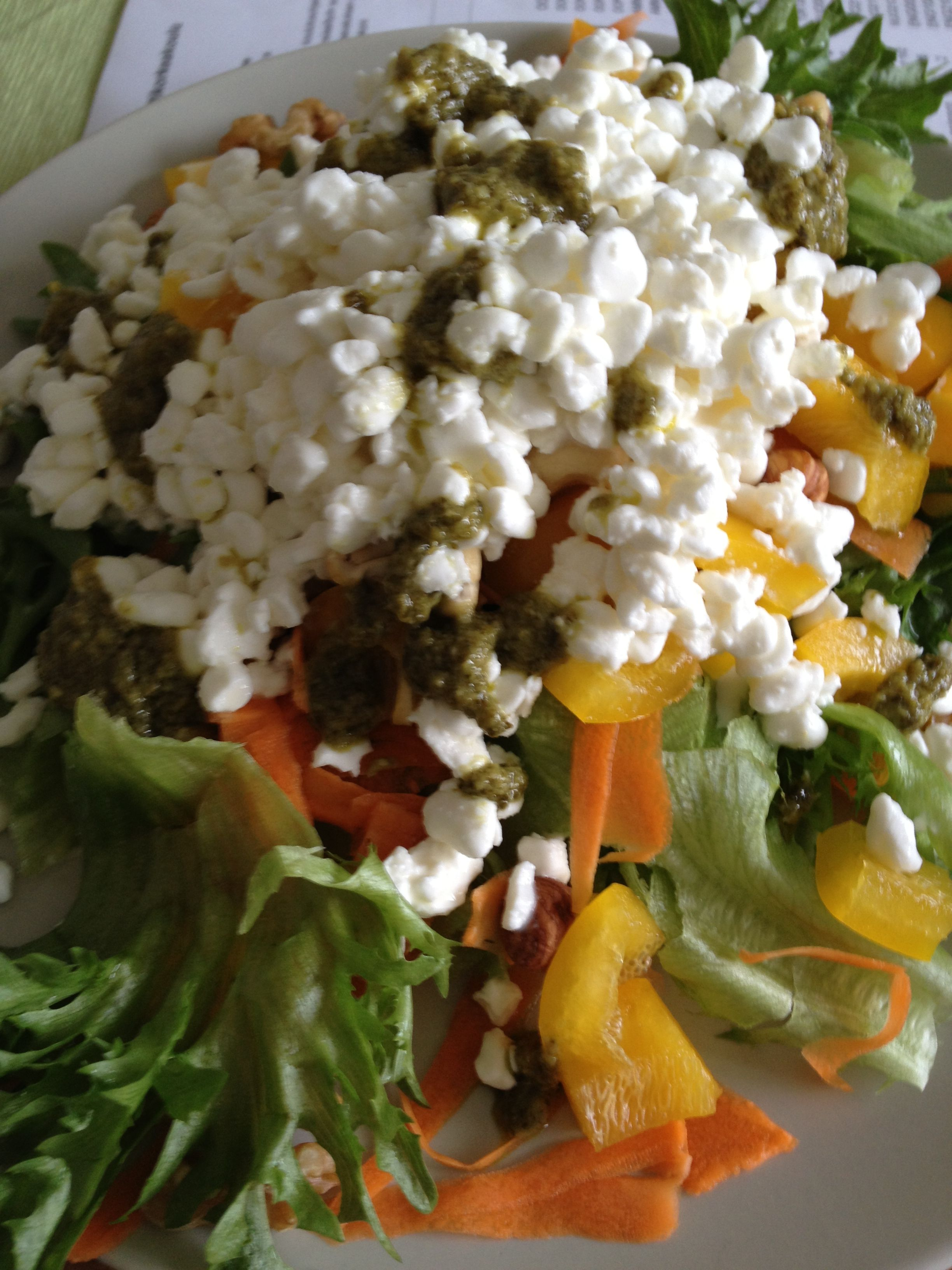 Lunch: salad | Food diary | Pinterest