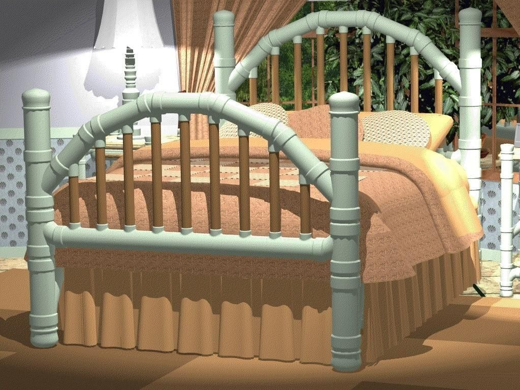 Bed Made From Pvc Pipe