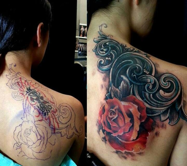 Amazing Cover Up Tattoo Inked Pinterest