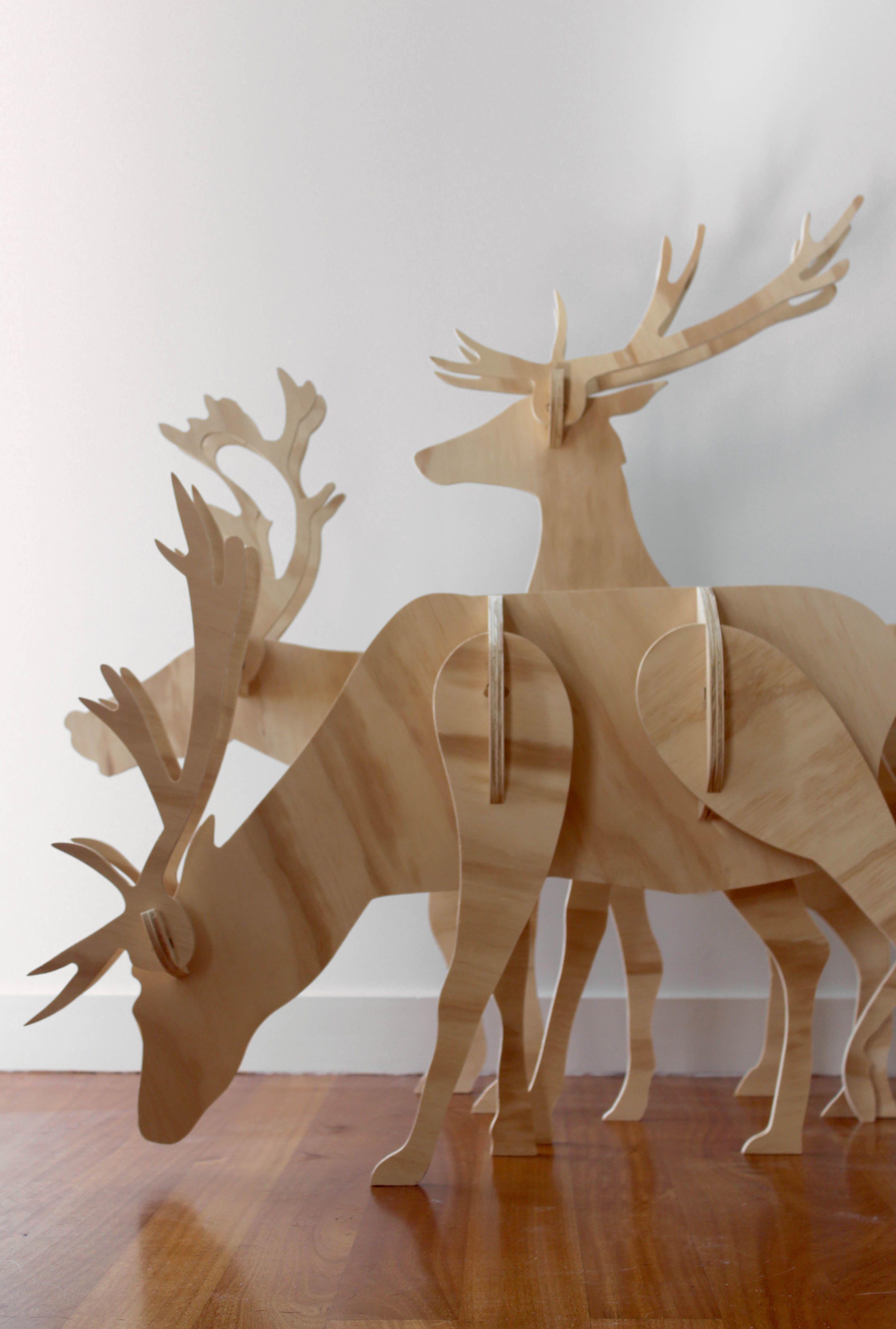 Как сделать оленя из дерева своими руками