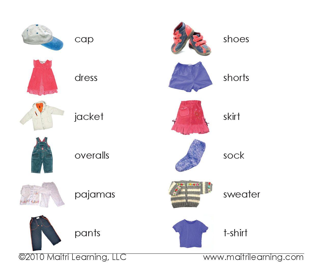 Одежда Английский Язык Для Детей