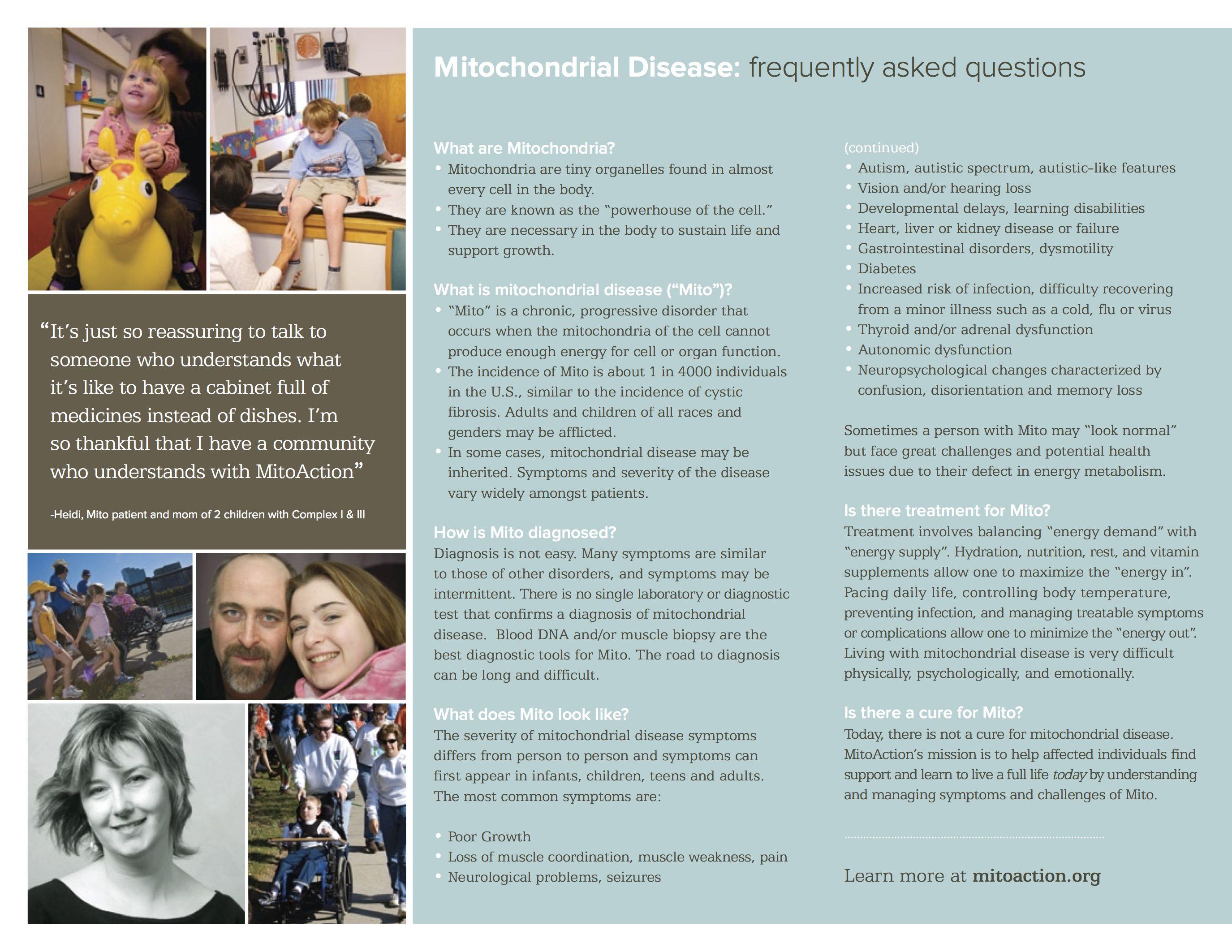 Mito Disease Info Mitochondrial Disease Pinterest