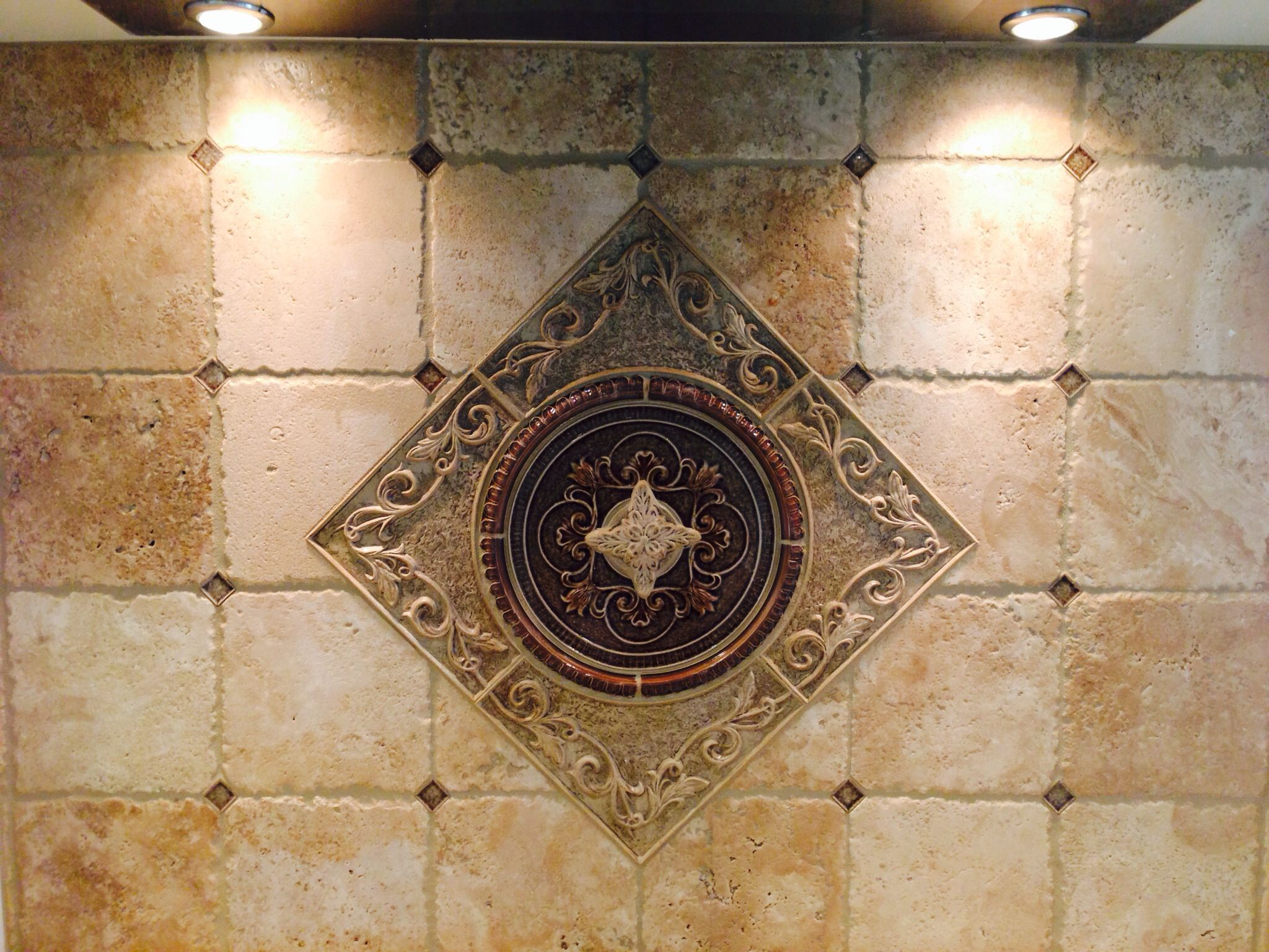 Medallion Tile Backsplash Medallion Tile Backsplash