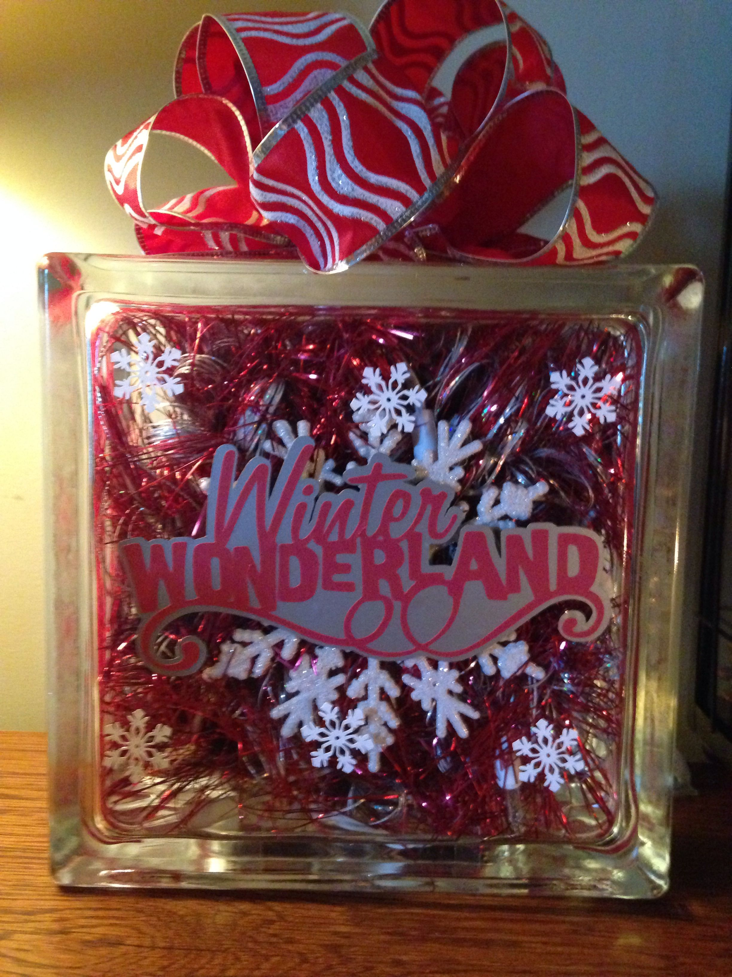 My christmas lighted glass block crafts pinterest for Glass block for crafts