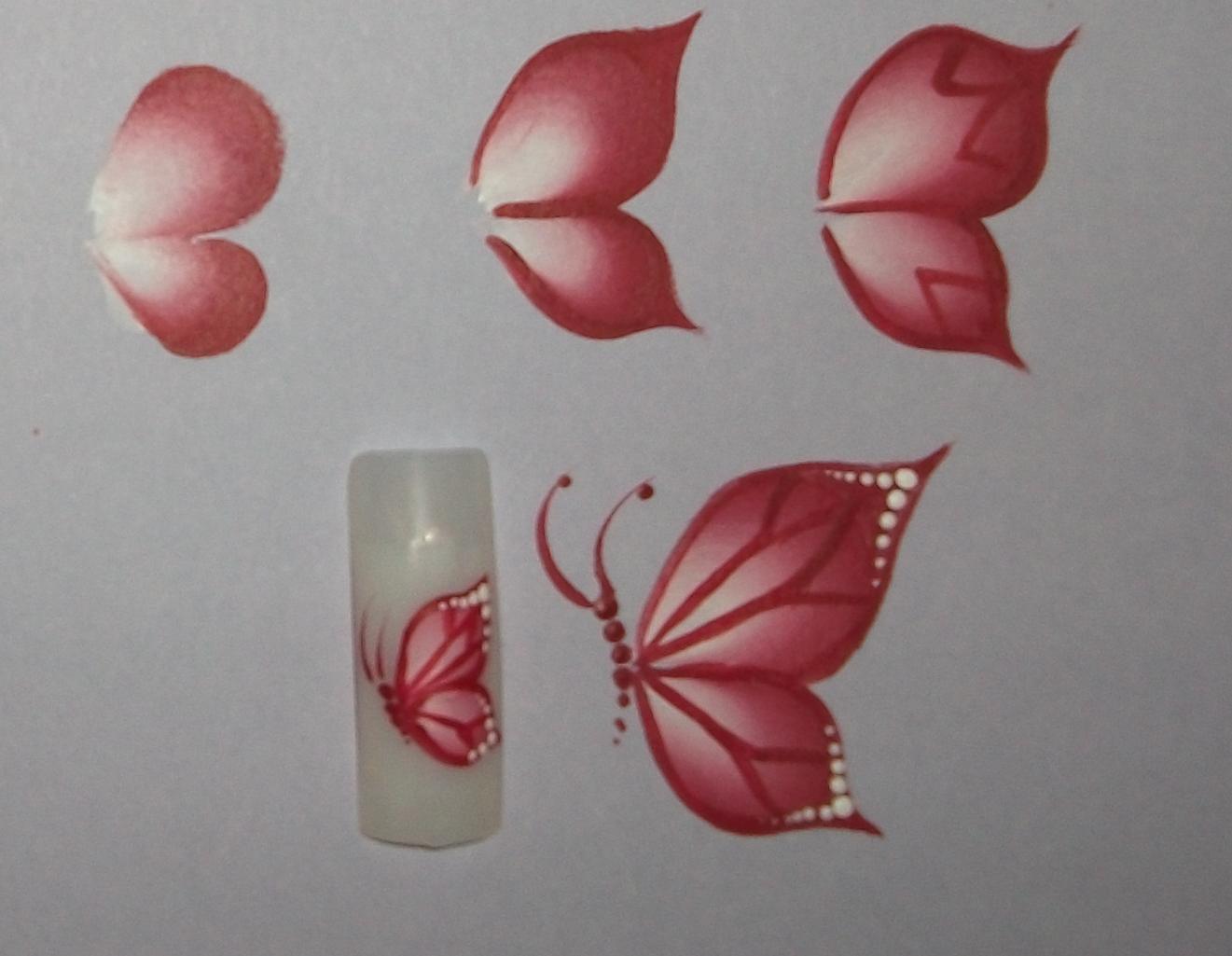 Рисунки бабочки на ногтях поэтапно