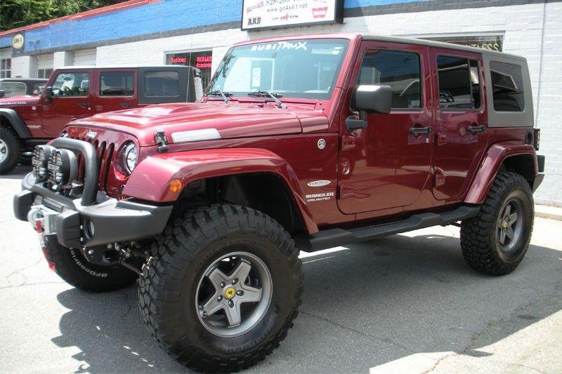 Alfa img showing gt maroon jeep wrangler unlimited rubicon wheels