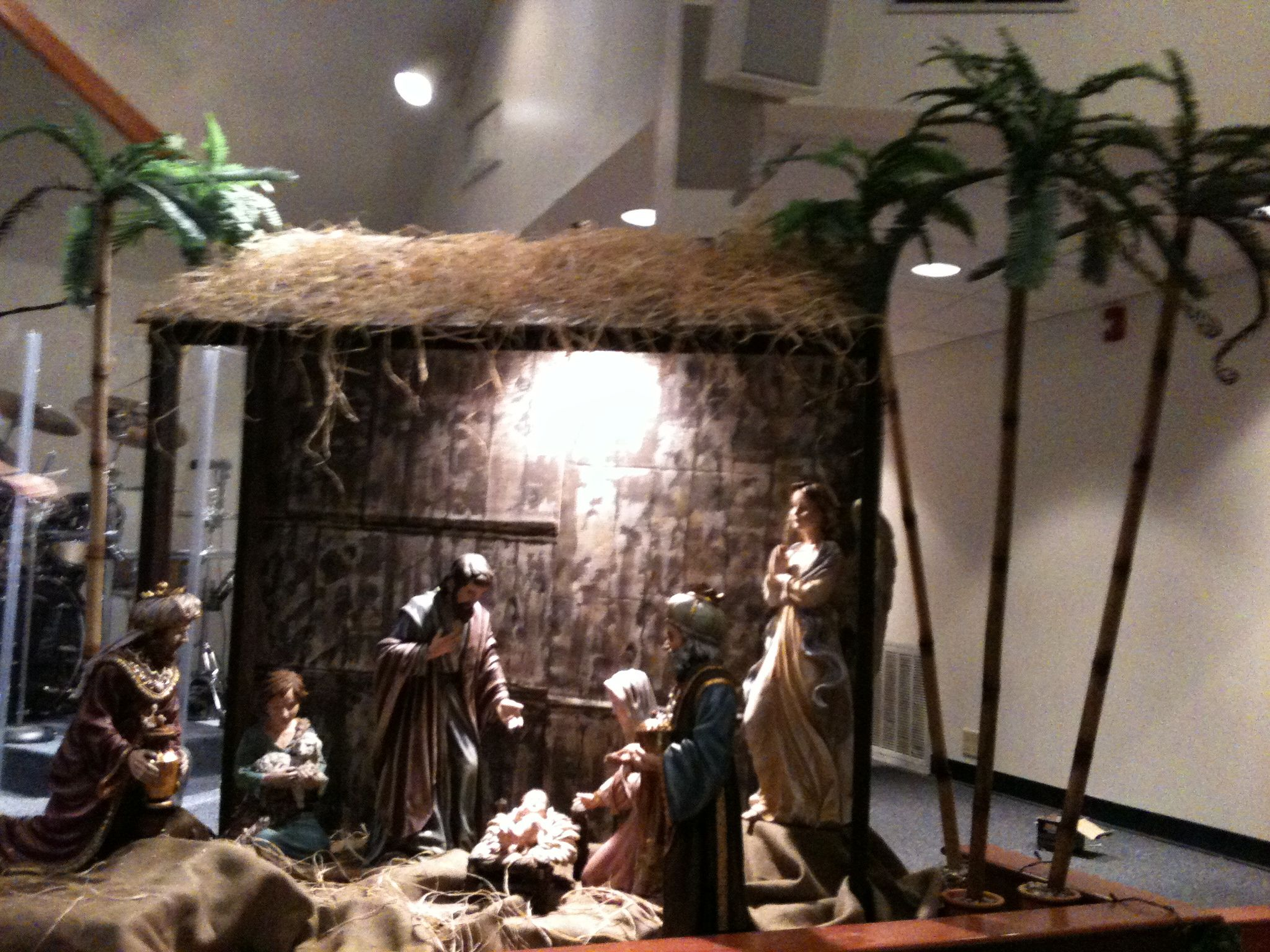 Nativity Scene Advent Church Decor Pinterest