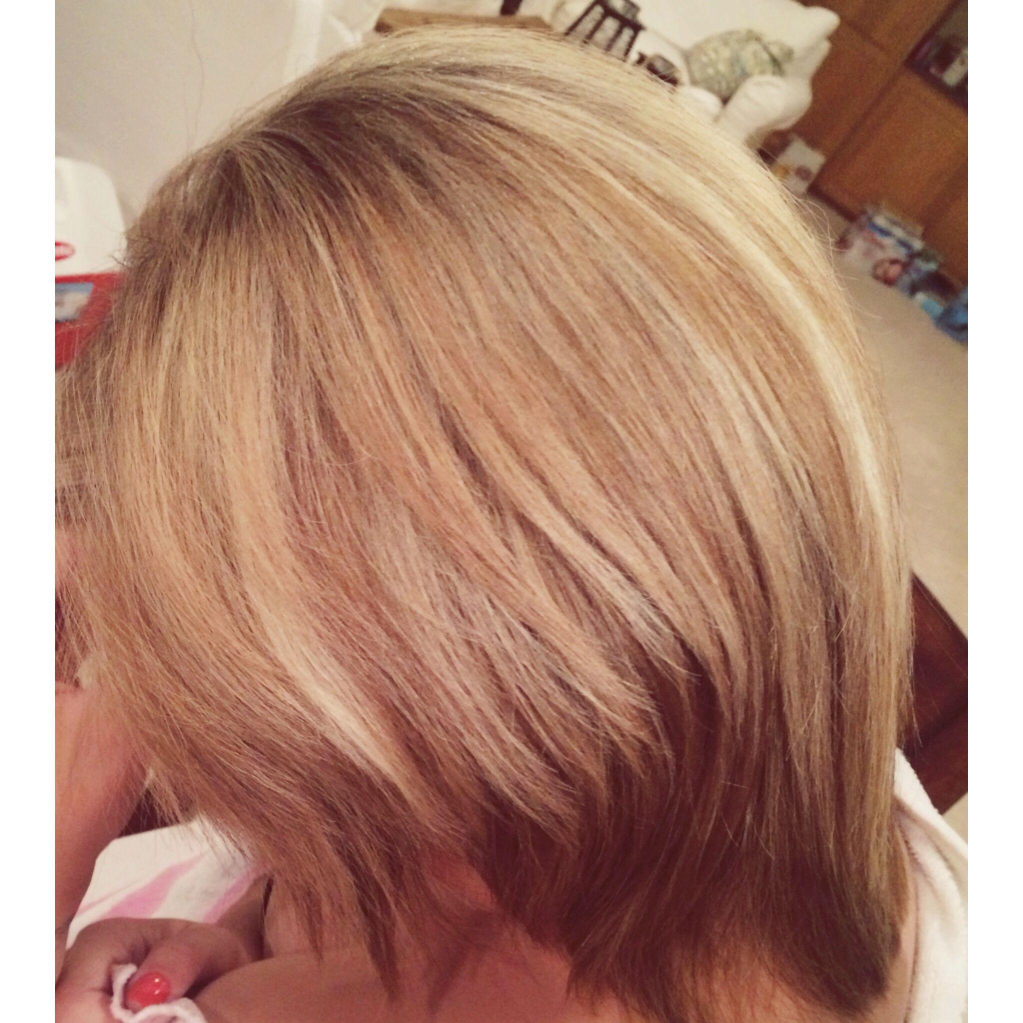 Blond Hair With Honey Lowlights Under Blond Hair With