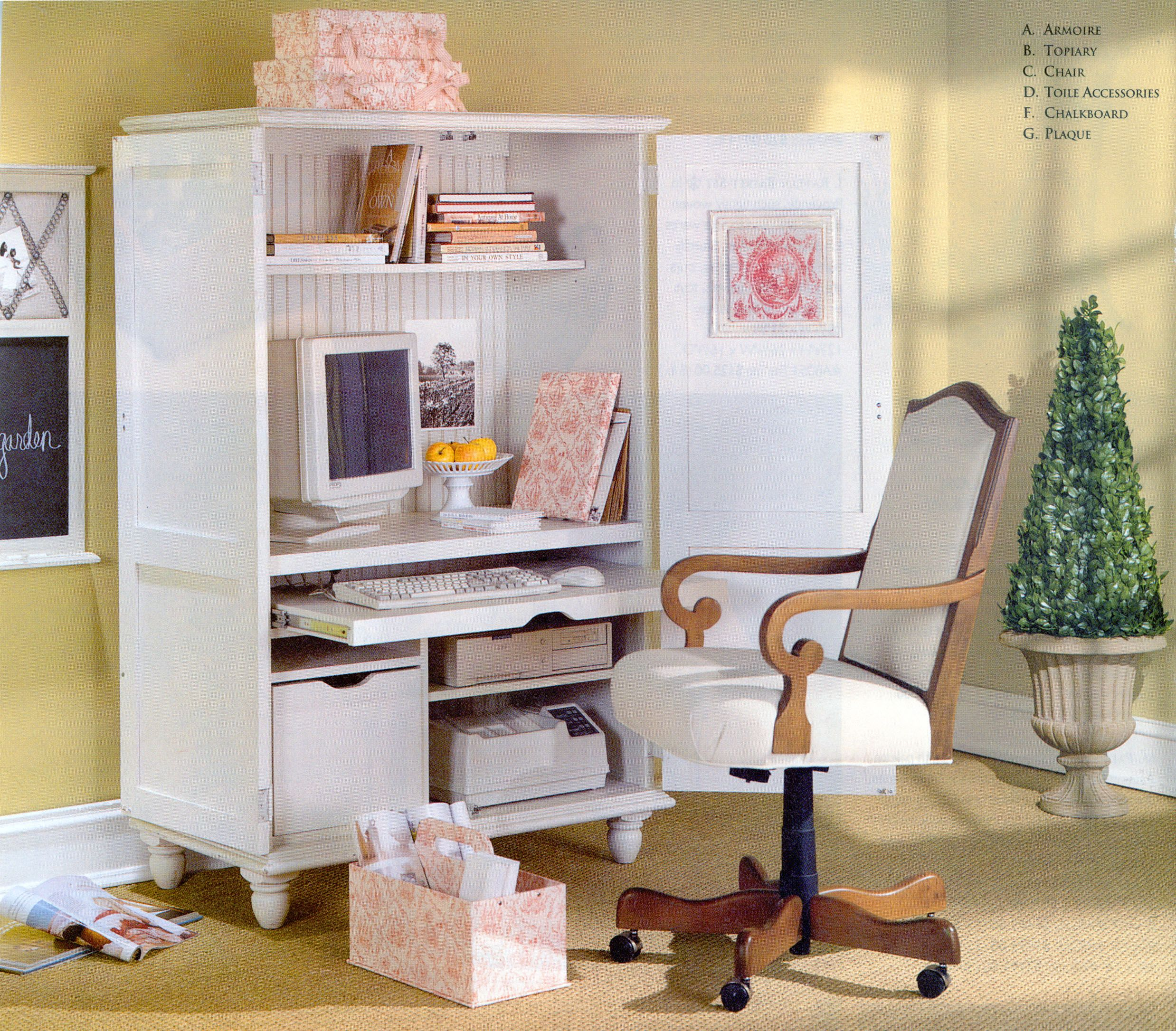 Ballard designs home office armoire for the home pinterest - Ballard design home office ...