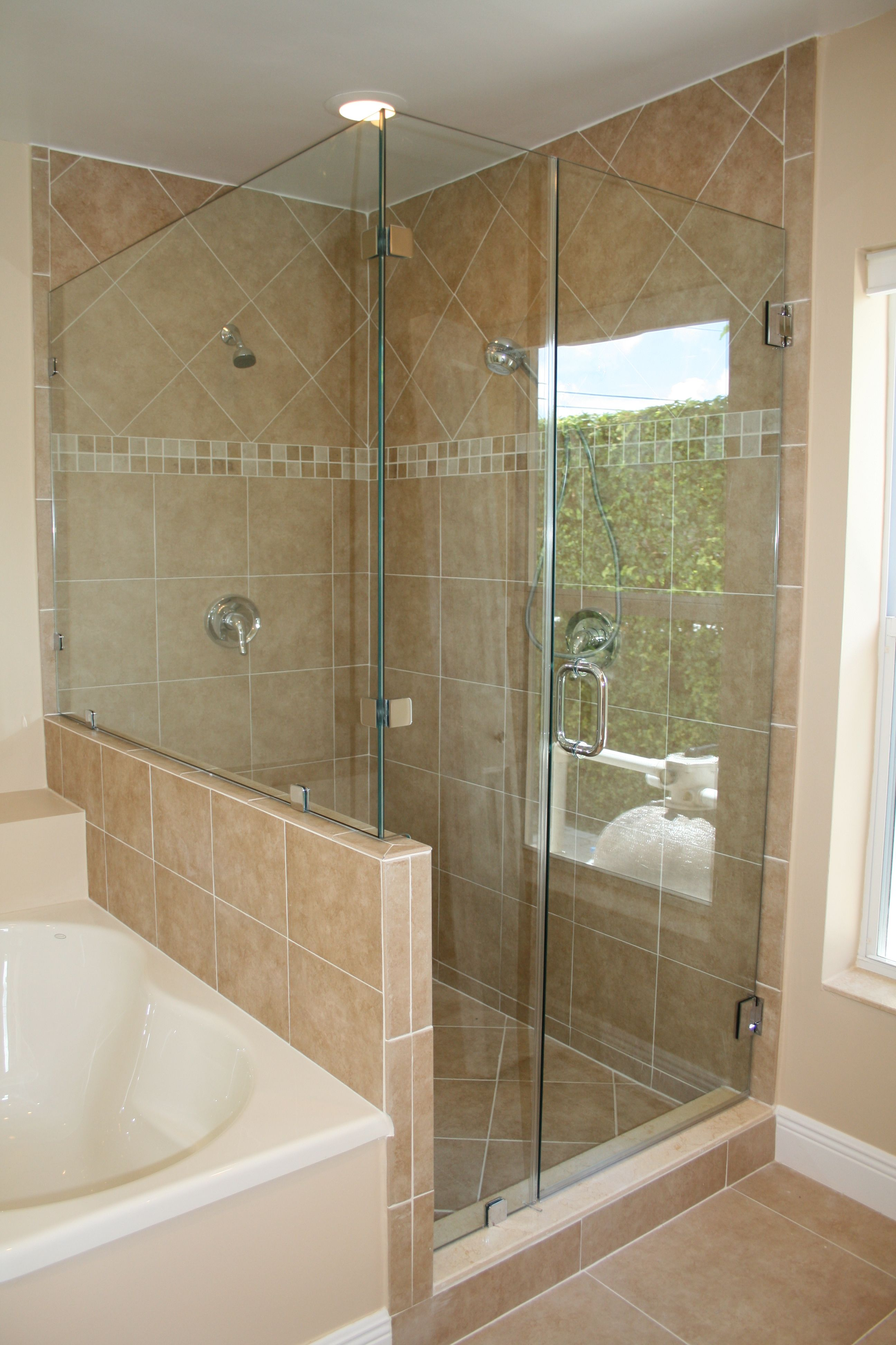 Clear Glass Frameless Shower Door Shower Doors Pinterest