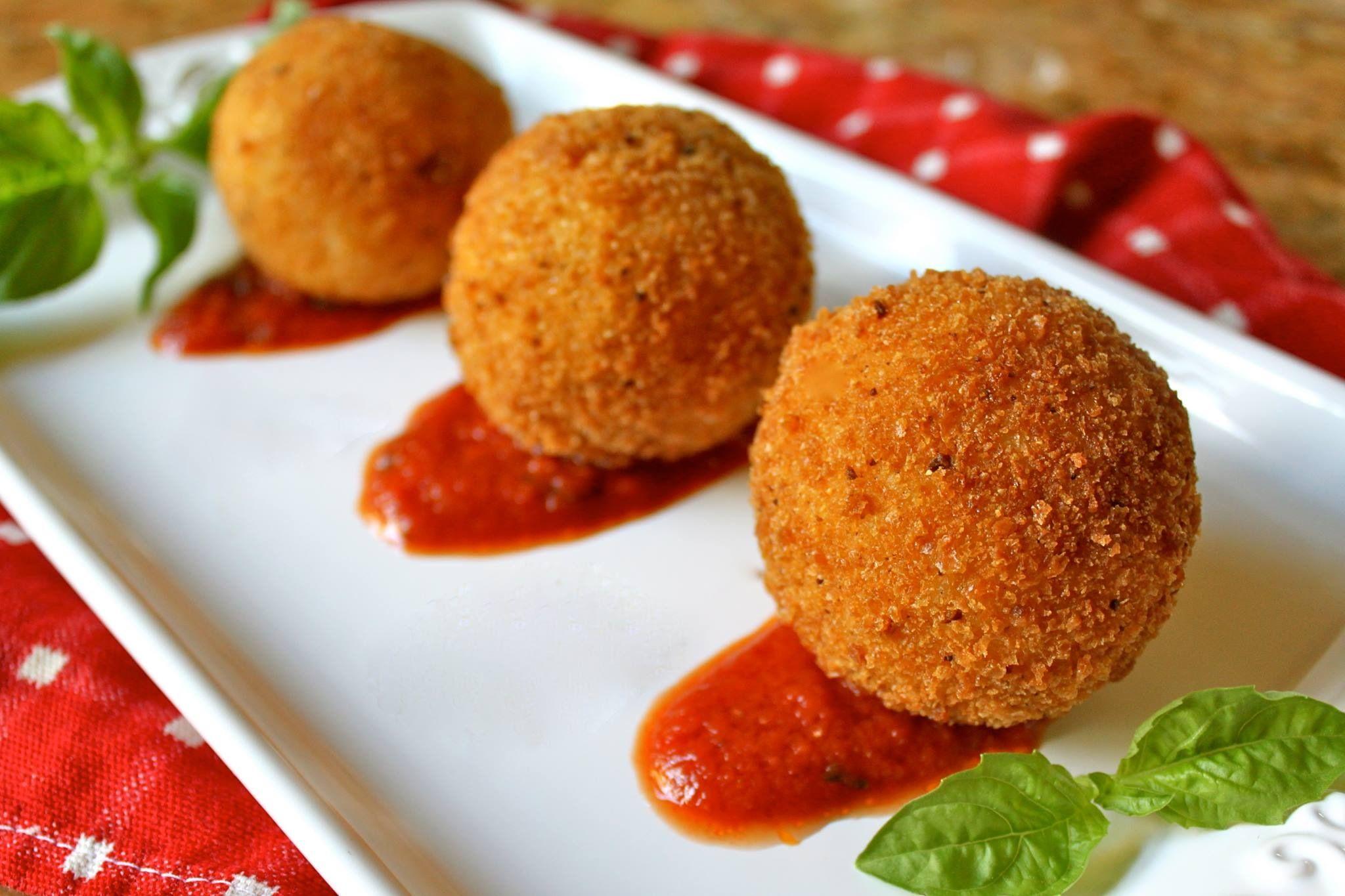 Sicilian rice balls | Pasta/Italian | Pinterest