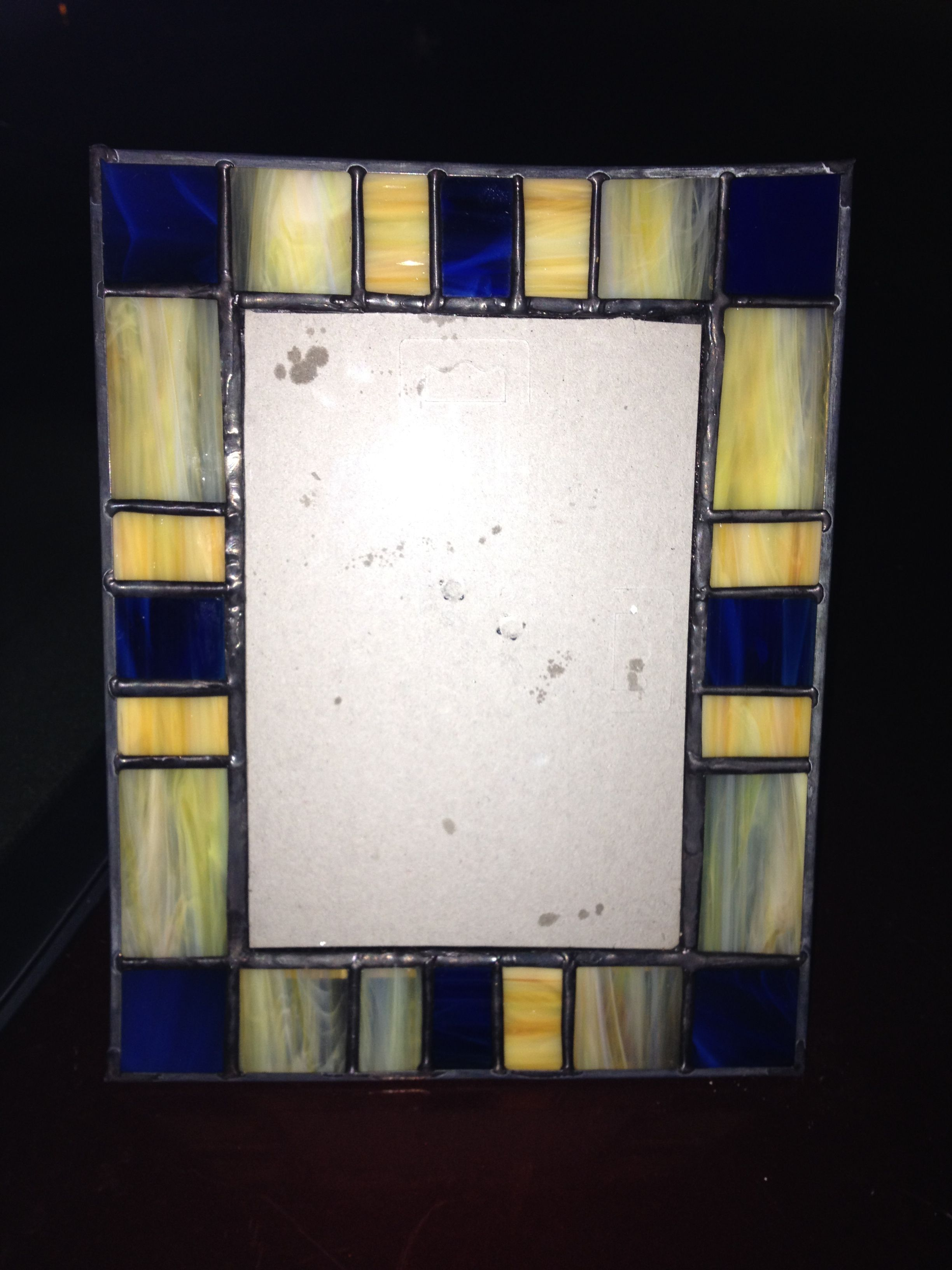 stained glass picture frame i made this