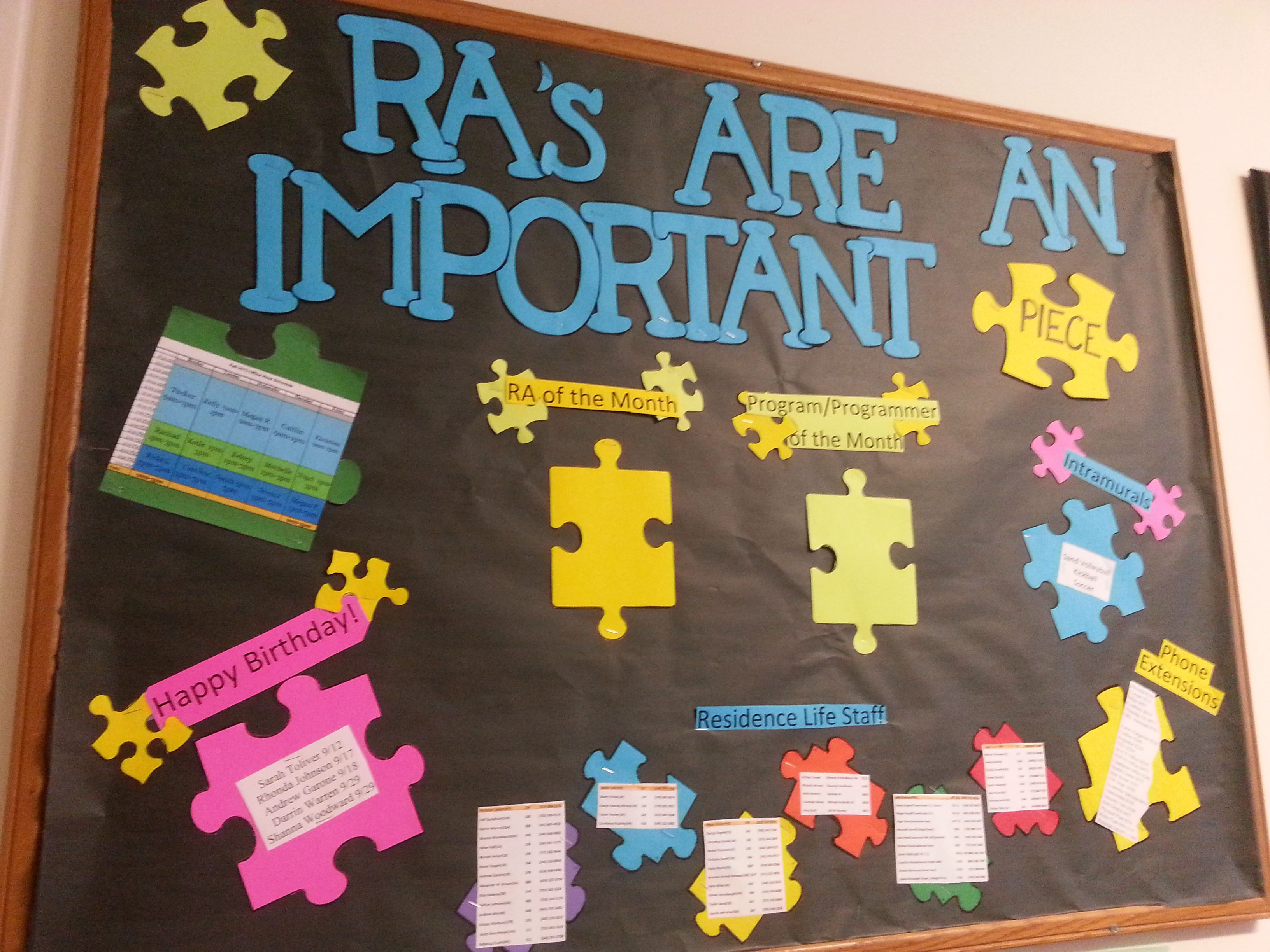 ra bulletin boards