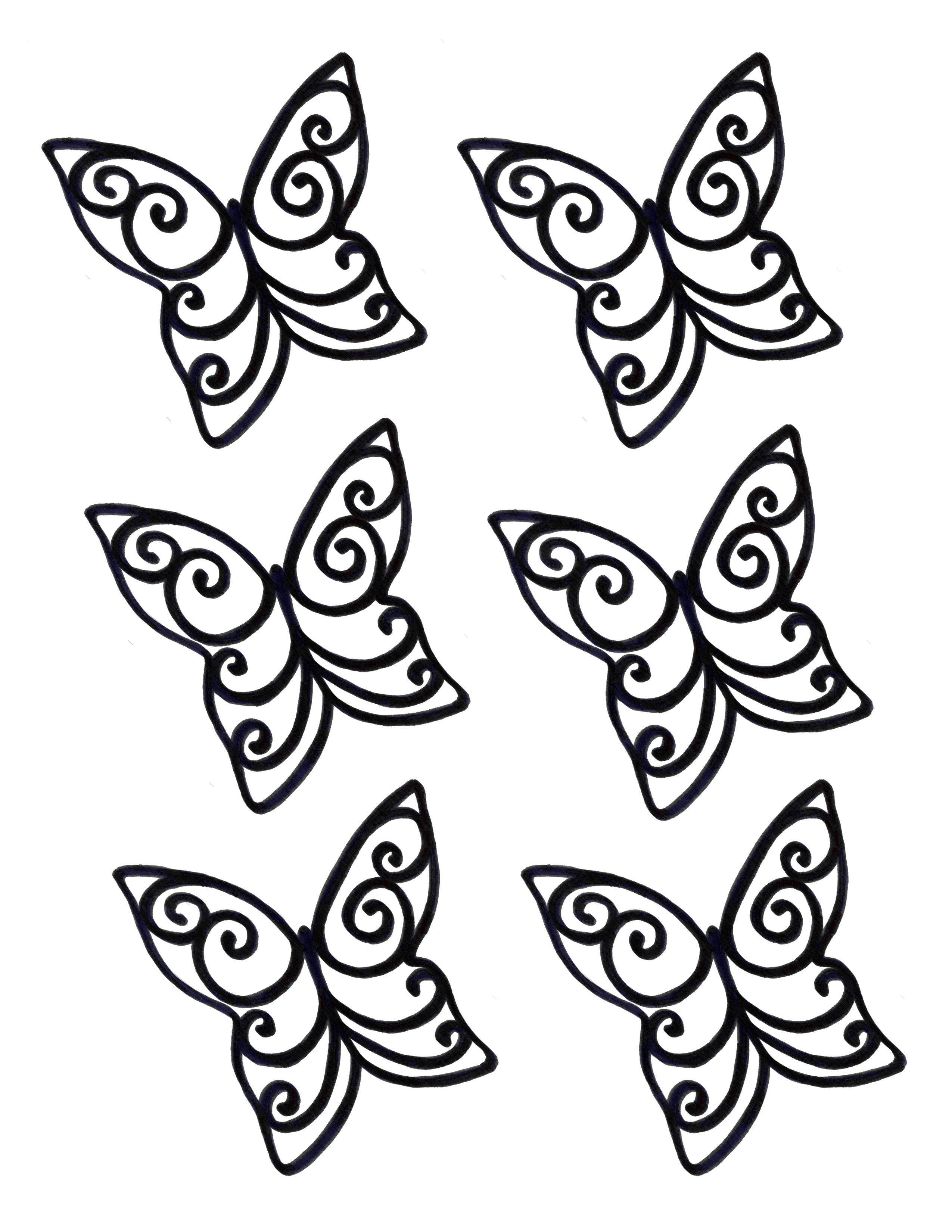 Cake Decorating Butterfly Template : This is a stencil that you can use to make your own ...