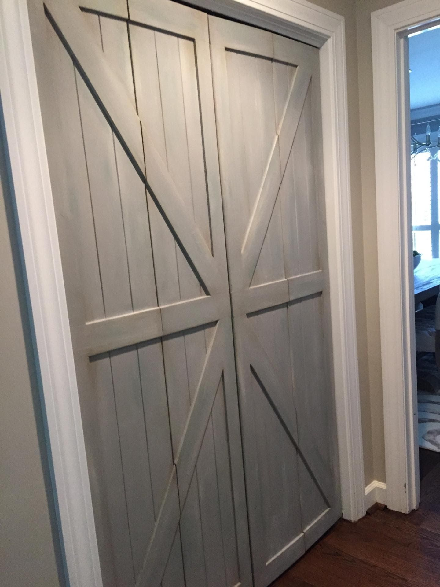 Our Bi-Fold Barn Doors Replace your laundry, pantry or closet ...