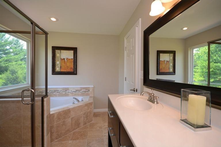 Thick molding around large mirror bathroom pinterest for Molding around mirror bathroom