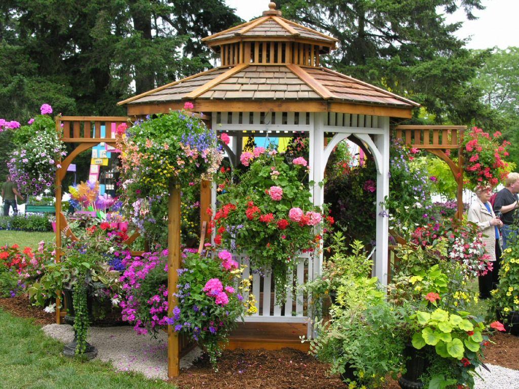 Flower Garden Gazebo : Just beautiful  Gazebos  Pinterest