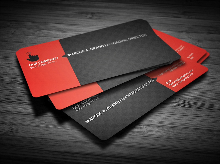Rounded Corner Business Card Logos