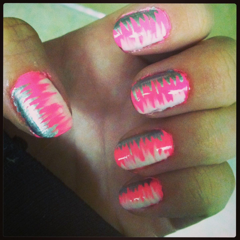 Hot Nail Designs: Hot Pink Nail Design