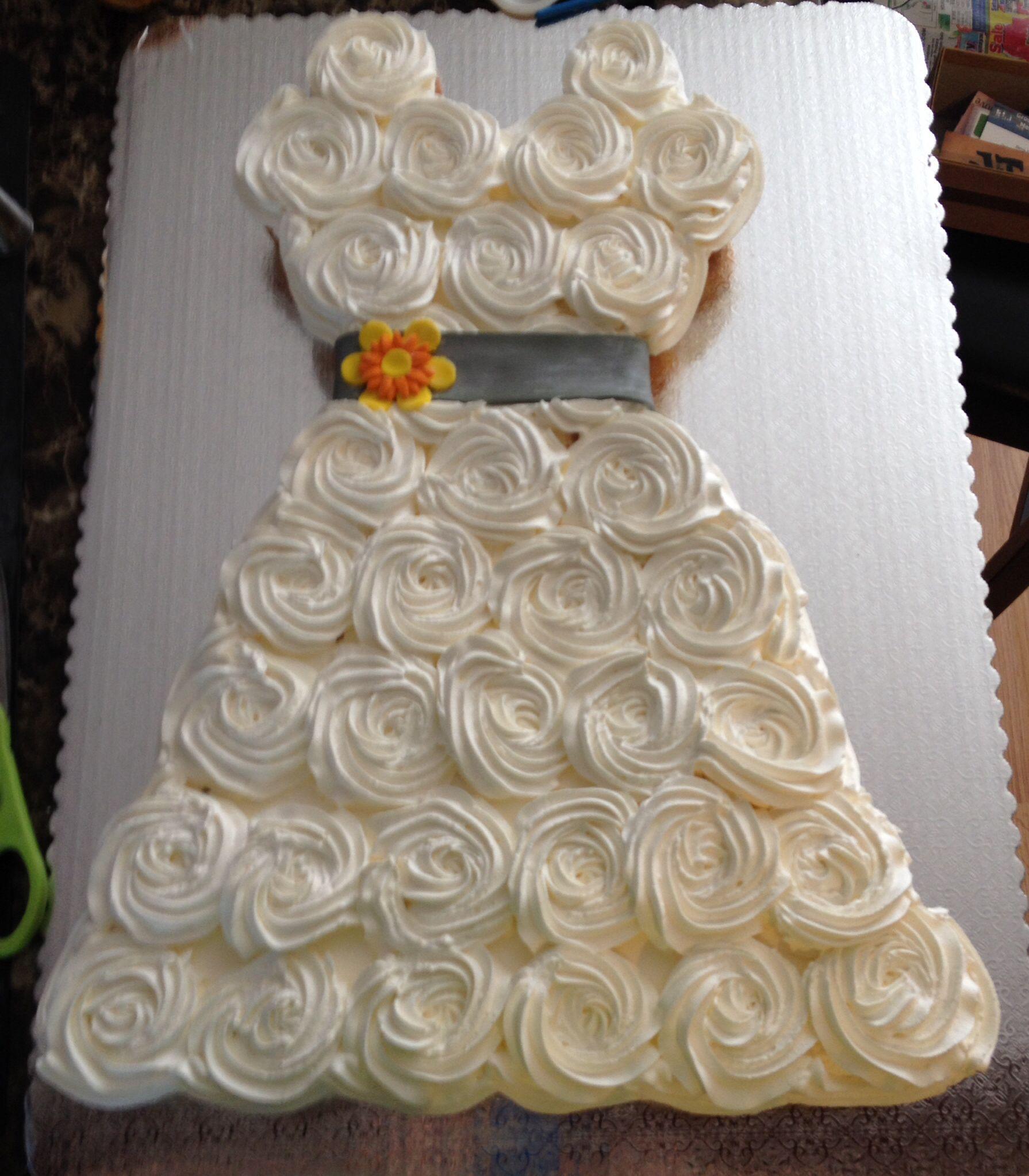 Bridal Shower Wedding Dress Cupcakes Cupcakes
