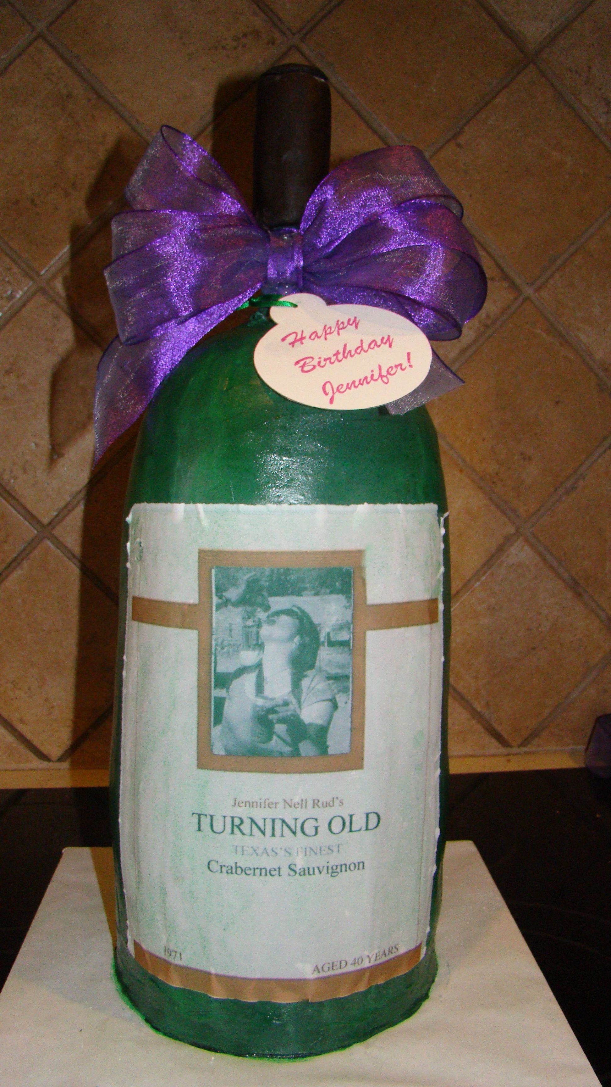 birthday cakes wine bottle