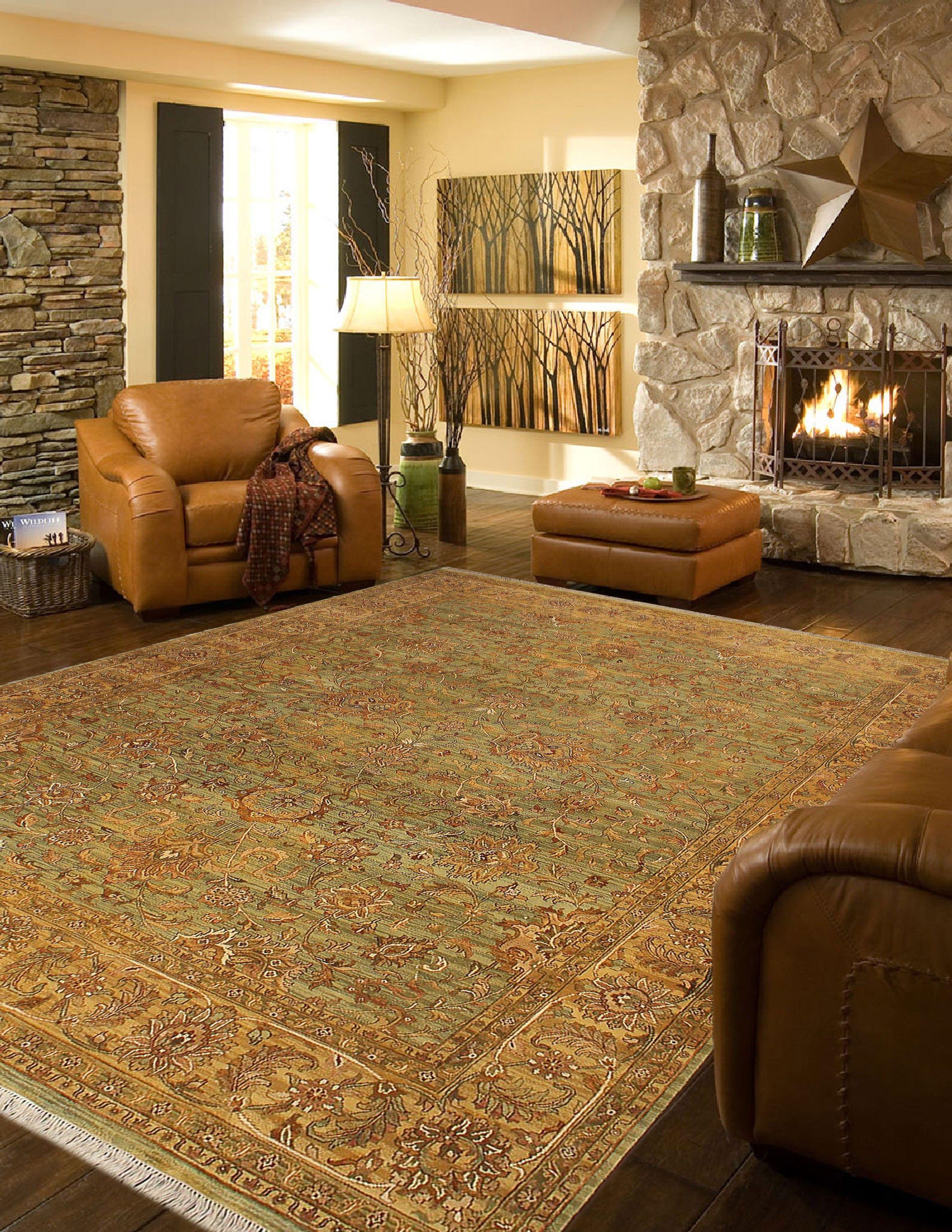9x12 living room design  Oushak Green