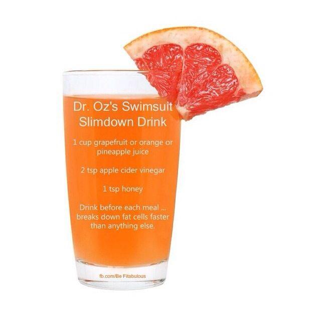 Fat burner drink by Dr. Oz | Yum! | Pinterest