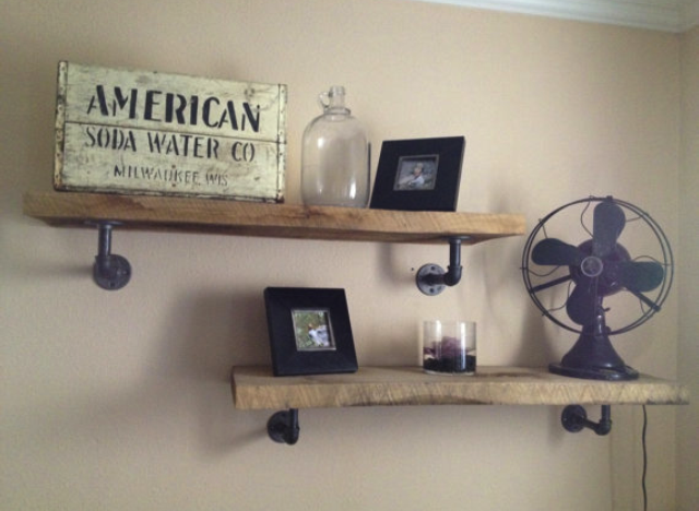 Awesome   Pipe Shelves Industrial Shelves And Industrial Pipe Shelves