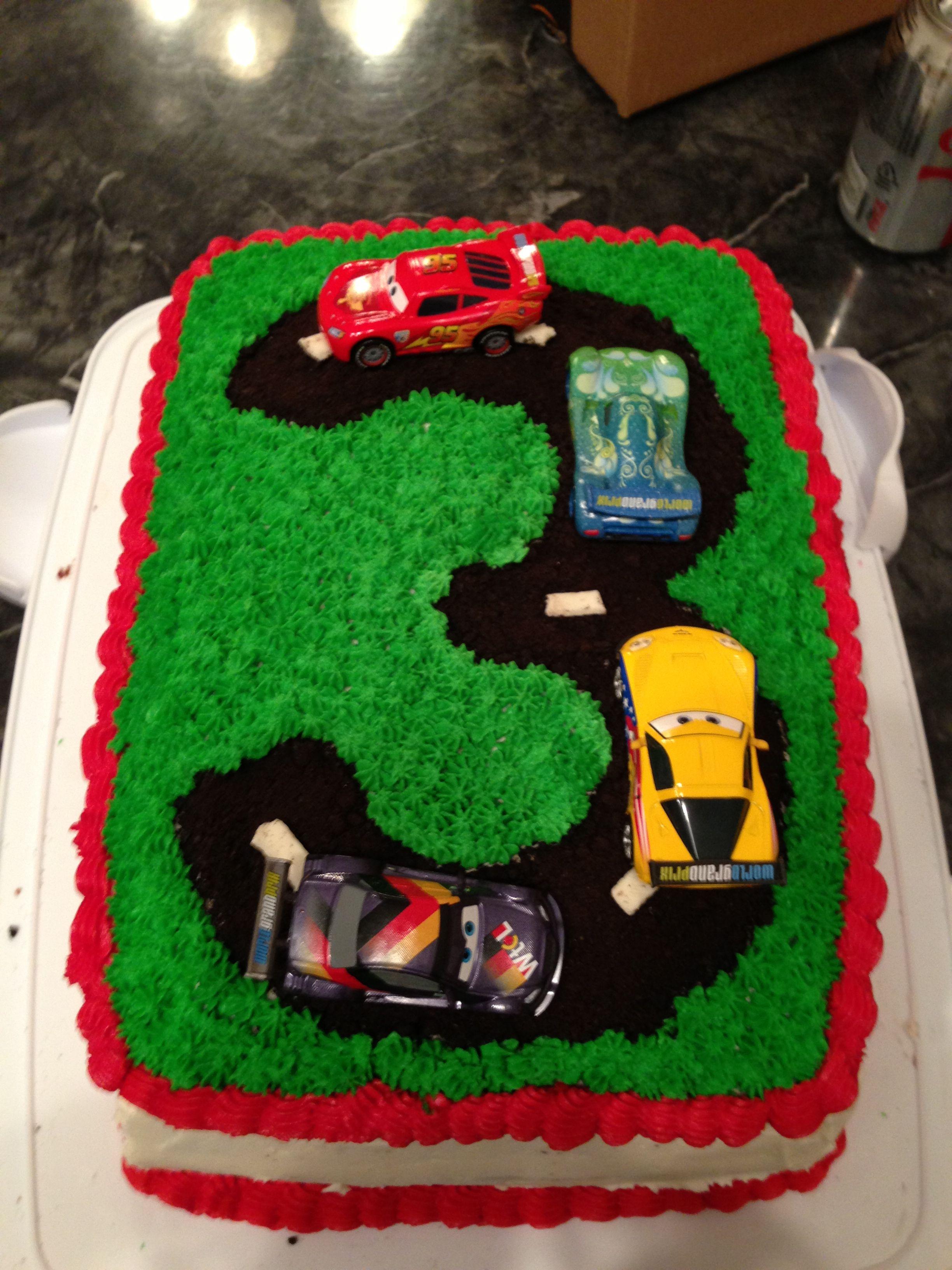 Race car birthday cake  kids birthday  Pinterest