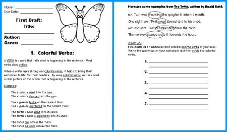 essay writing exercises for children