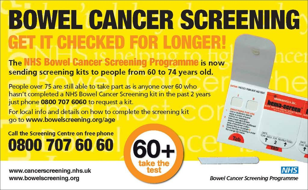 how to use the bowel cancer kit