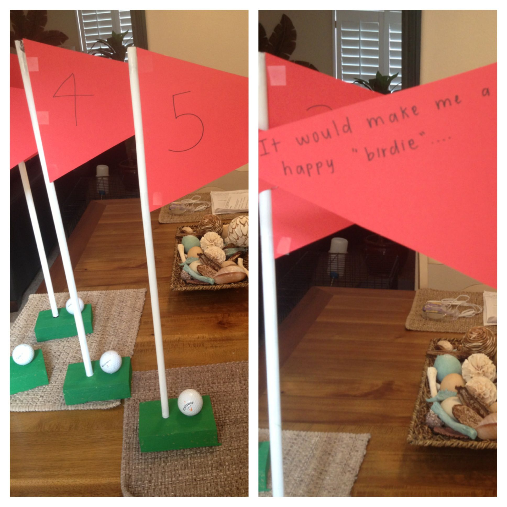 Great way to ask a golfer to the sadie hawkins dance just use blocks