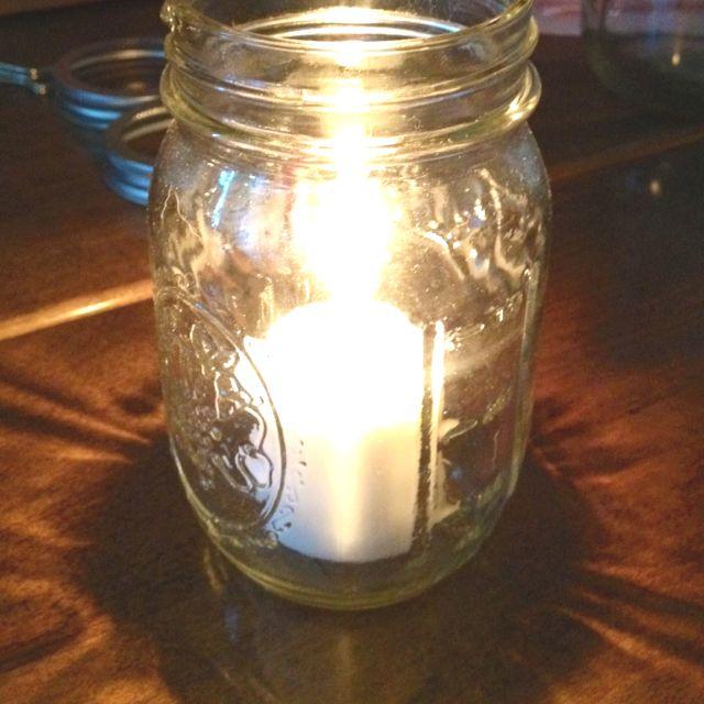 Mason jar candle holders wedding ideas pinterest for Mason jar holder ideas