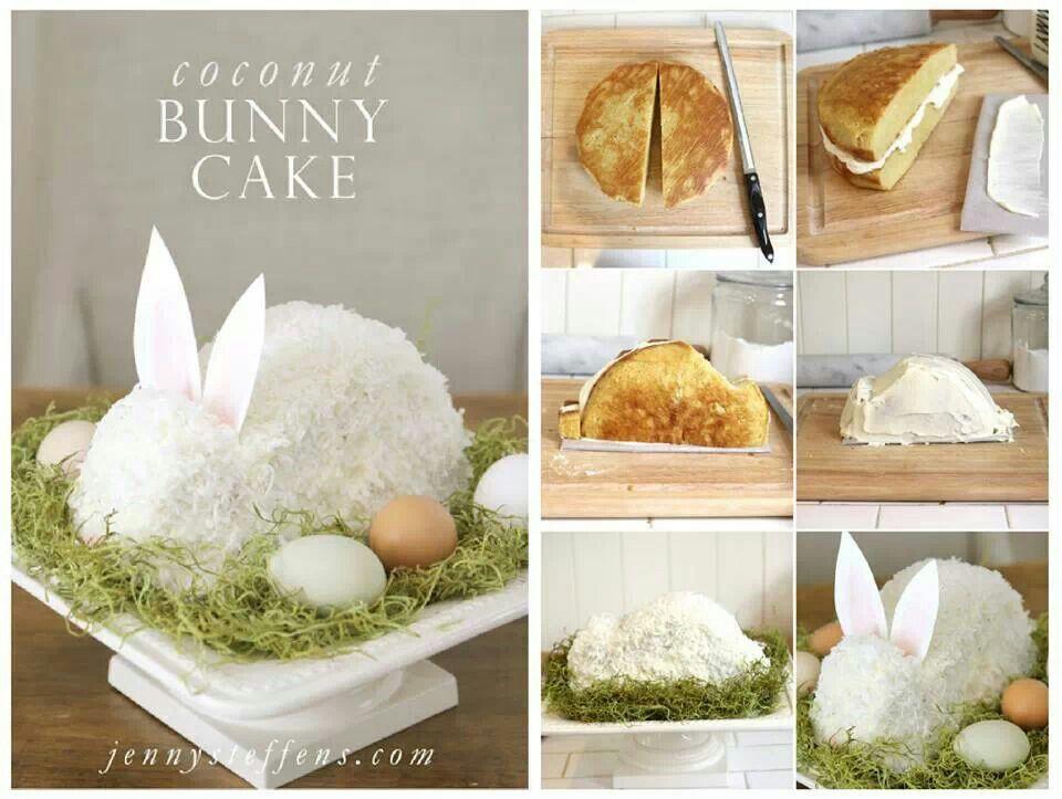 easy bunny cake | Cakes | Pinterest