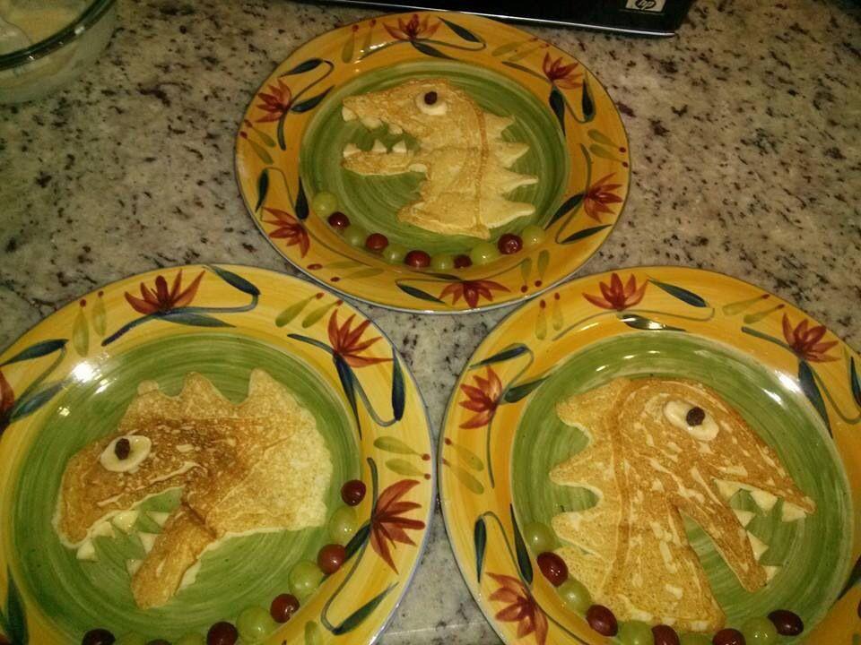 Dinosaur Pancakes