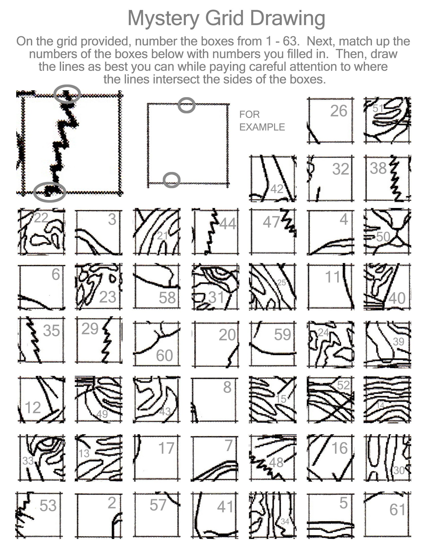 Line Drawing Worksheet : Printable mystery grid drawing pictures to pin on