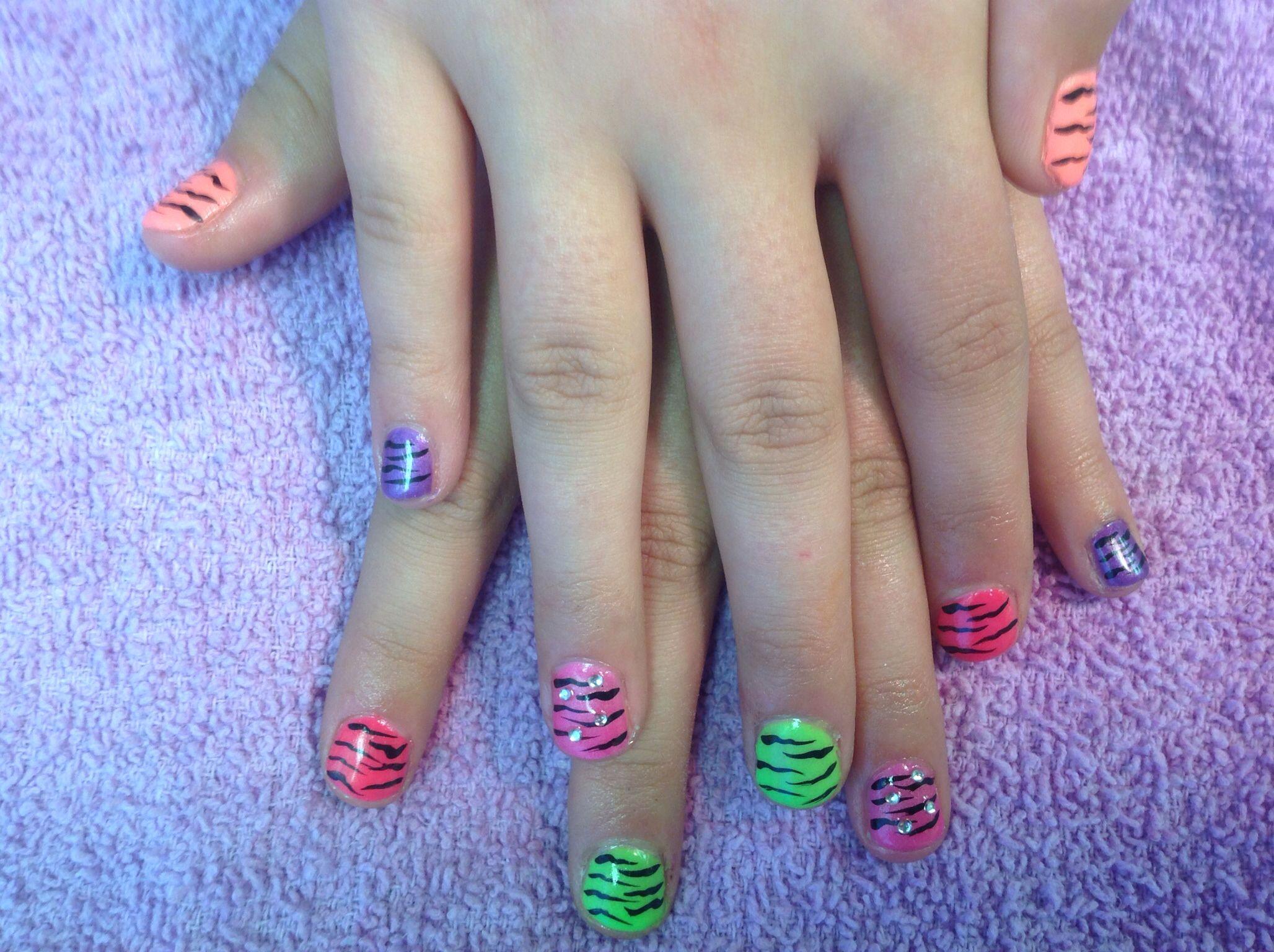 fun little girls nails nail art pinterest